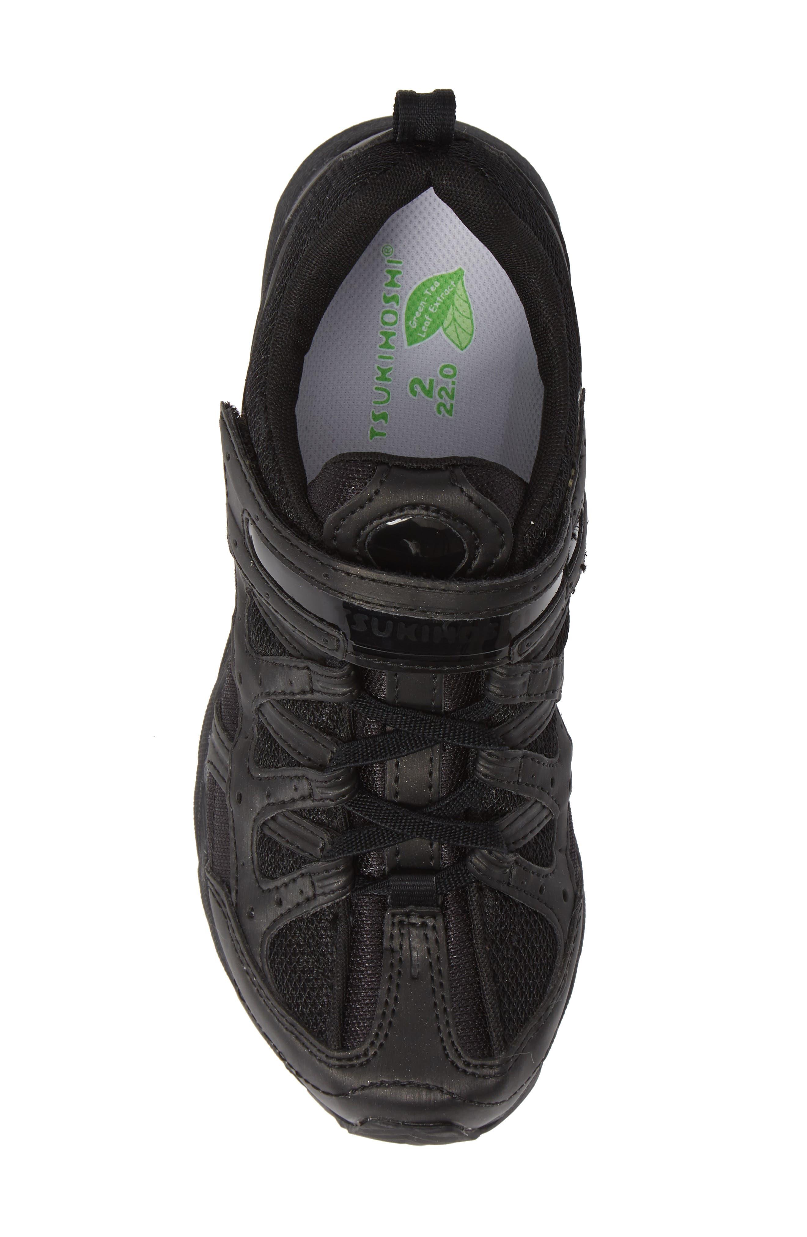 TSUKIHOSHI, Speed Washable Sneaker, Alternate thumbnail 5, color, BLACK/ NOIR