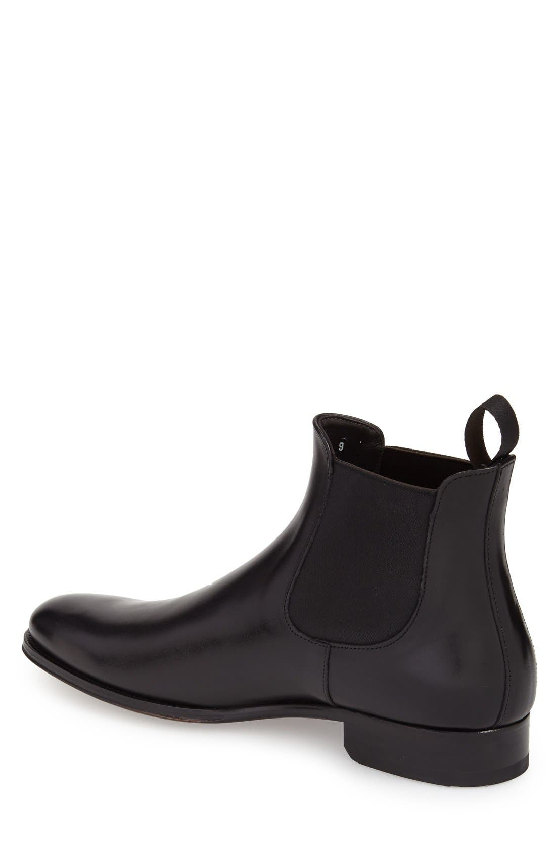 TO BOOT NEW YORK, Toby Chelsea Boot, Alternate thumbnail 2, color, BLACK LEATHER
