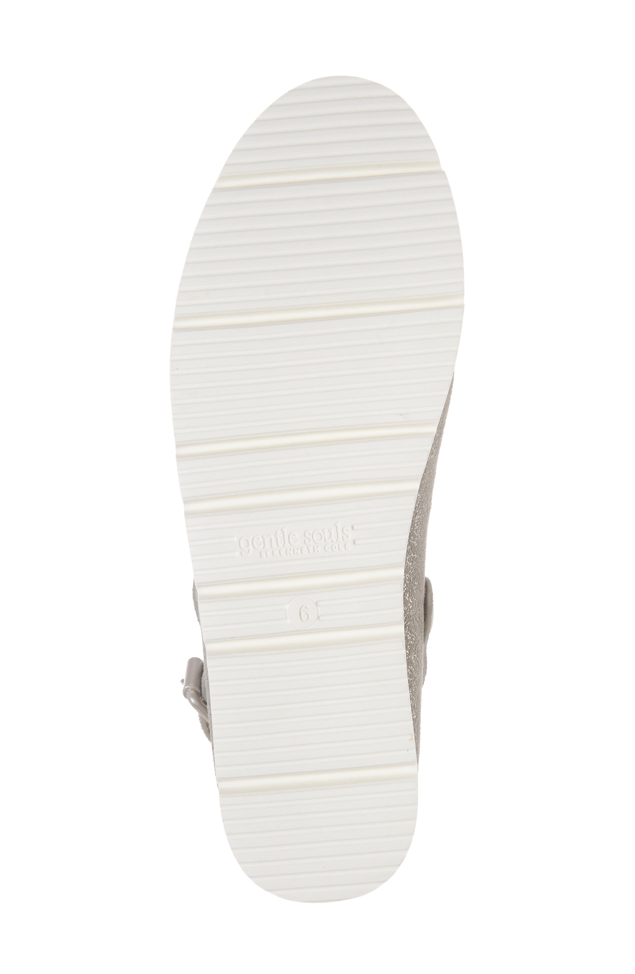 GENTLE SOULS BY KENNETH COLE, Esther Convertible Wedge, Alternate thumbnail 6, color, LIGHT PEWTER METALLIC LEATHER
