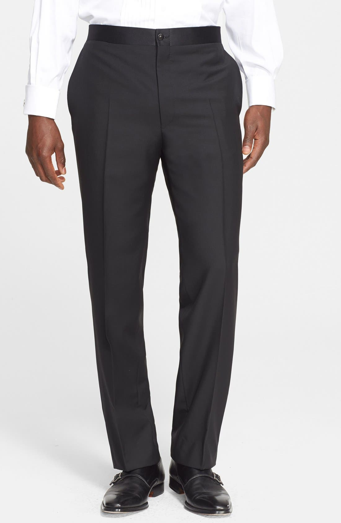 CANALI, 13000 Classic Fit Wool & Mohair Tuxedo, Alternate thumbnail 5, color, BLACK