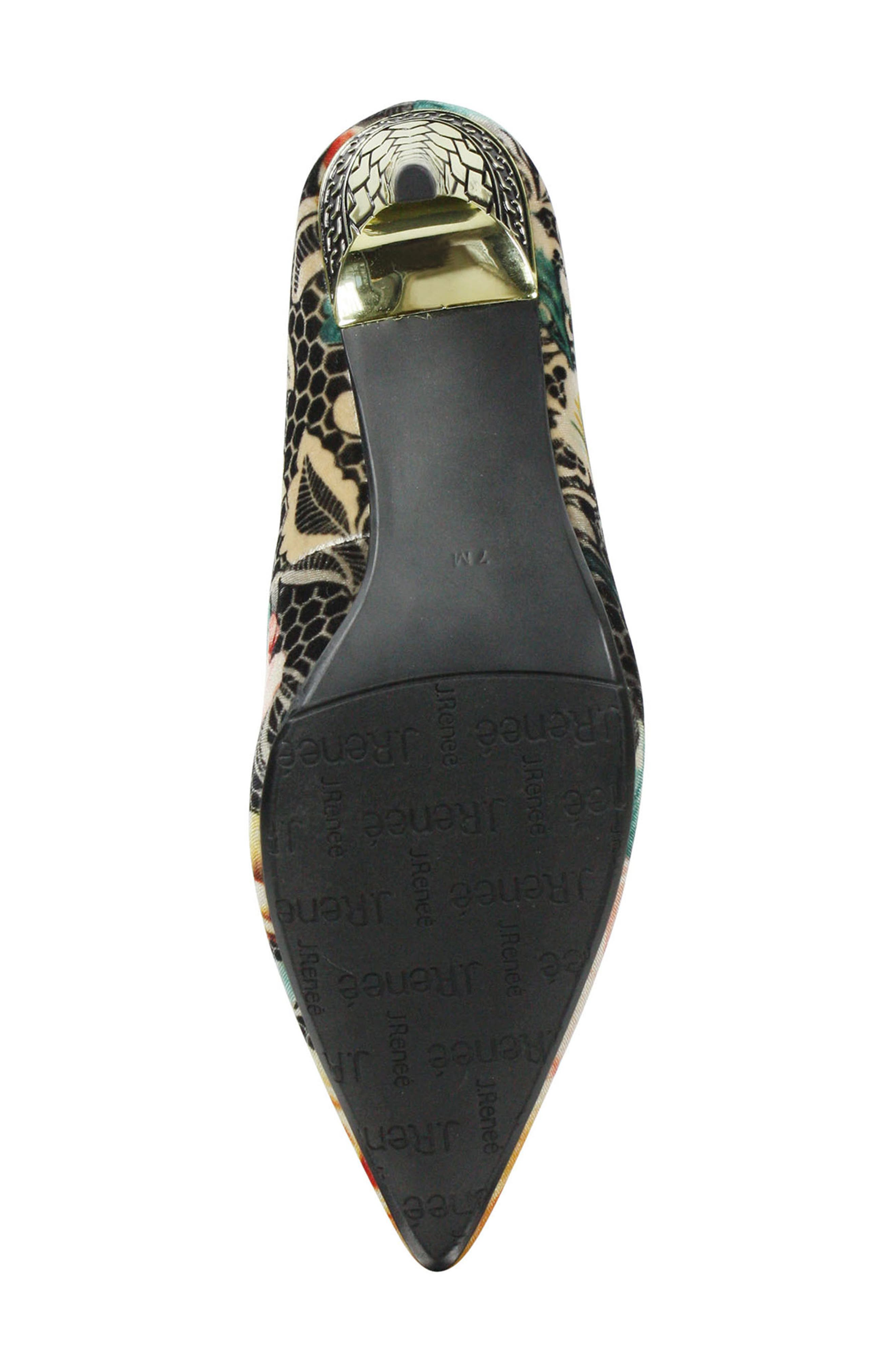 J. RENEÉ, 'Maressa' Pointy Toe Pump, Alternate thumbnail 6, color, BLACK/ TAUPE/ CORAL/ GOLD