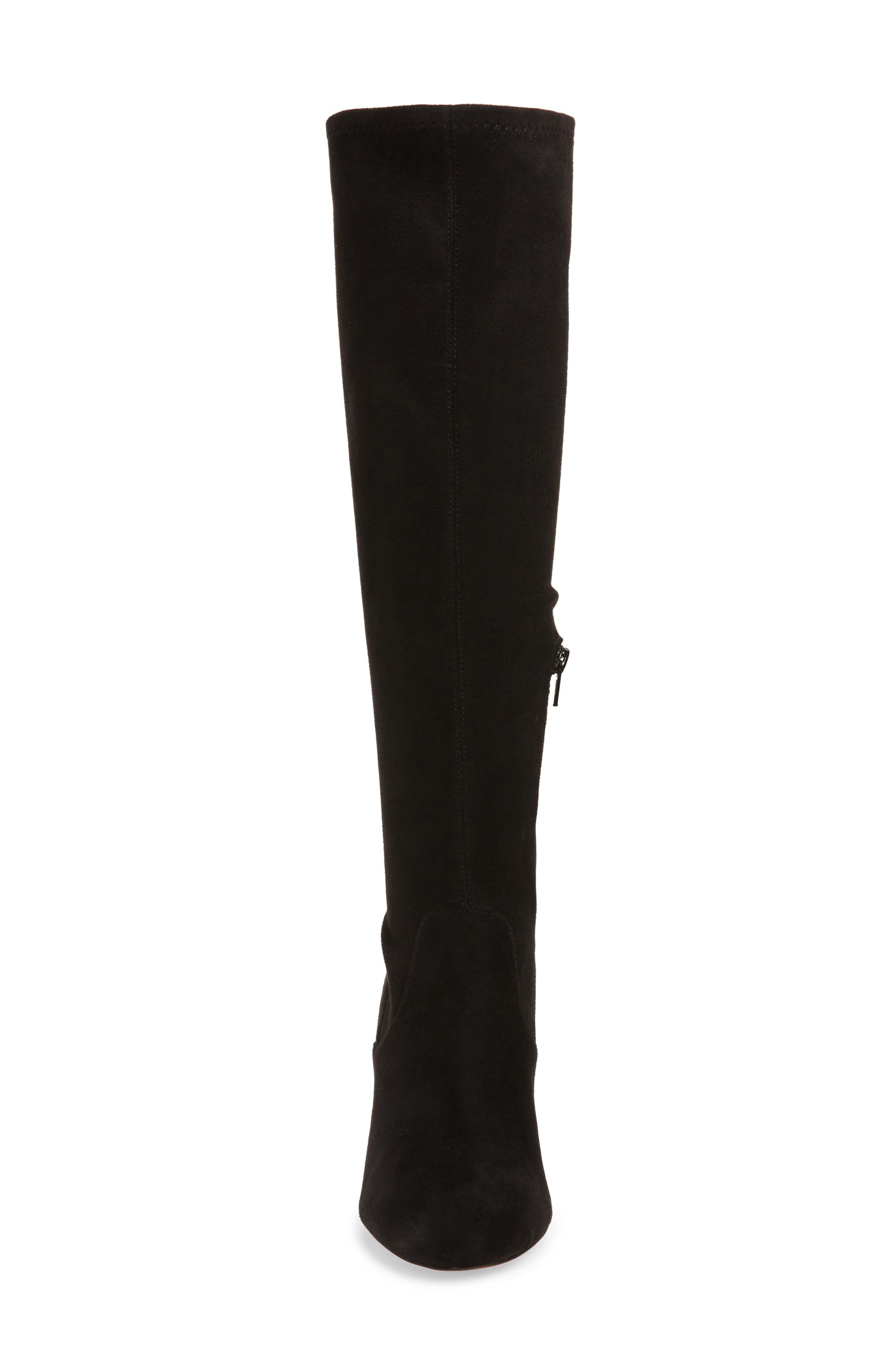 REBECCA MINKOFF, Gillian Knee High Boot, Alternate thumbnail 4, color, 001