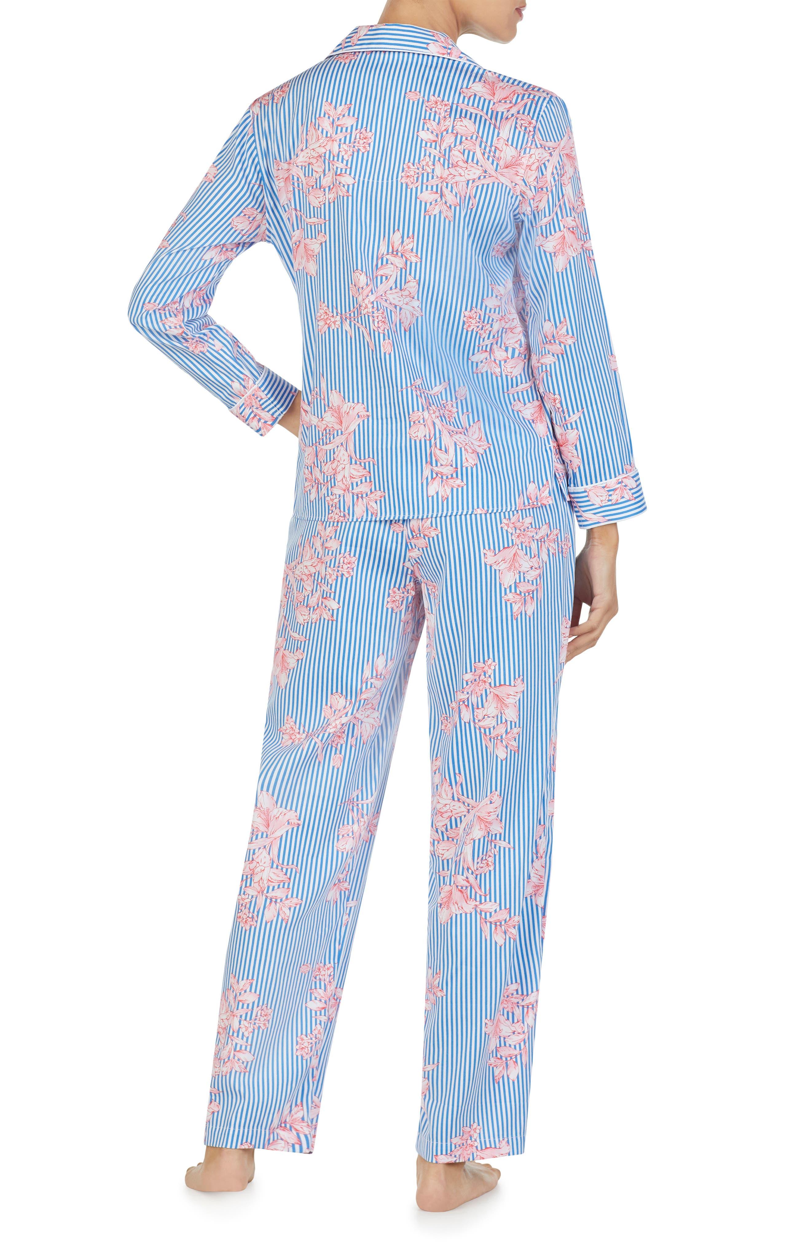 LAUREN RALPH LAUREN, Floral Pajamas, Alternate thumbnail 2, color, 486