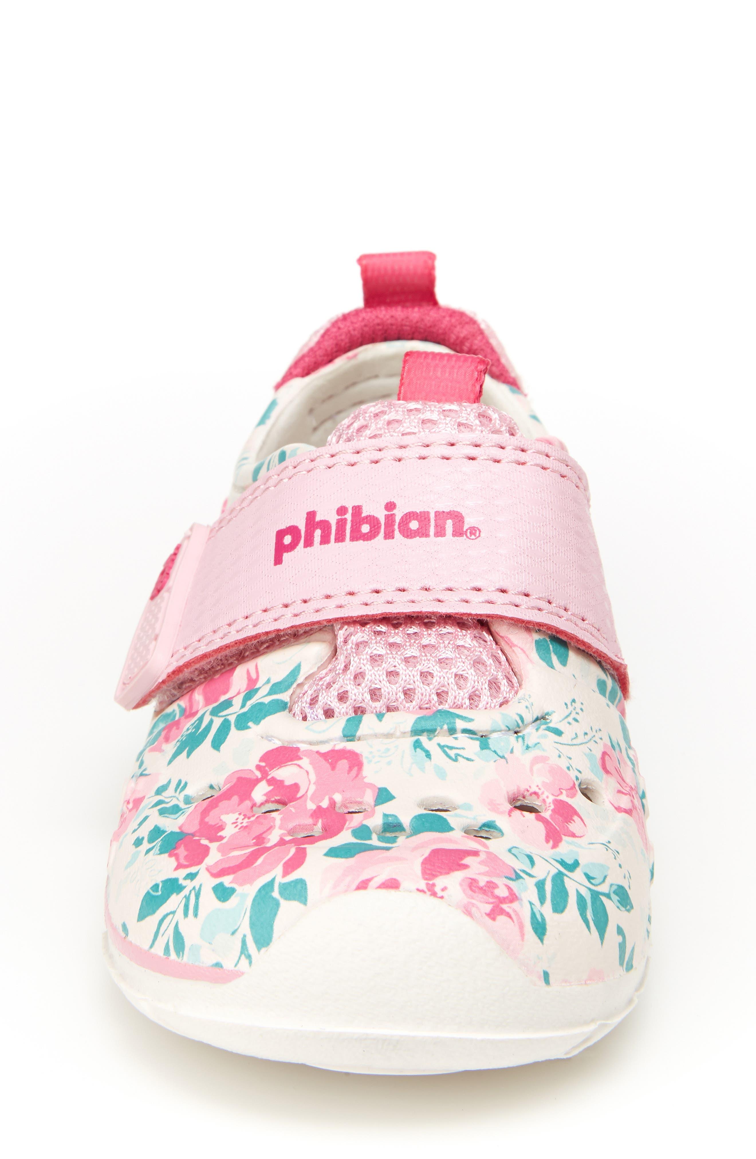 STRIDE RITE, Made2Play<sup>®</sup> Phibian Sneaker, Alternate thumbnail 3, color, WHITE/ PINK EVA
