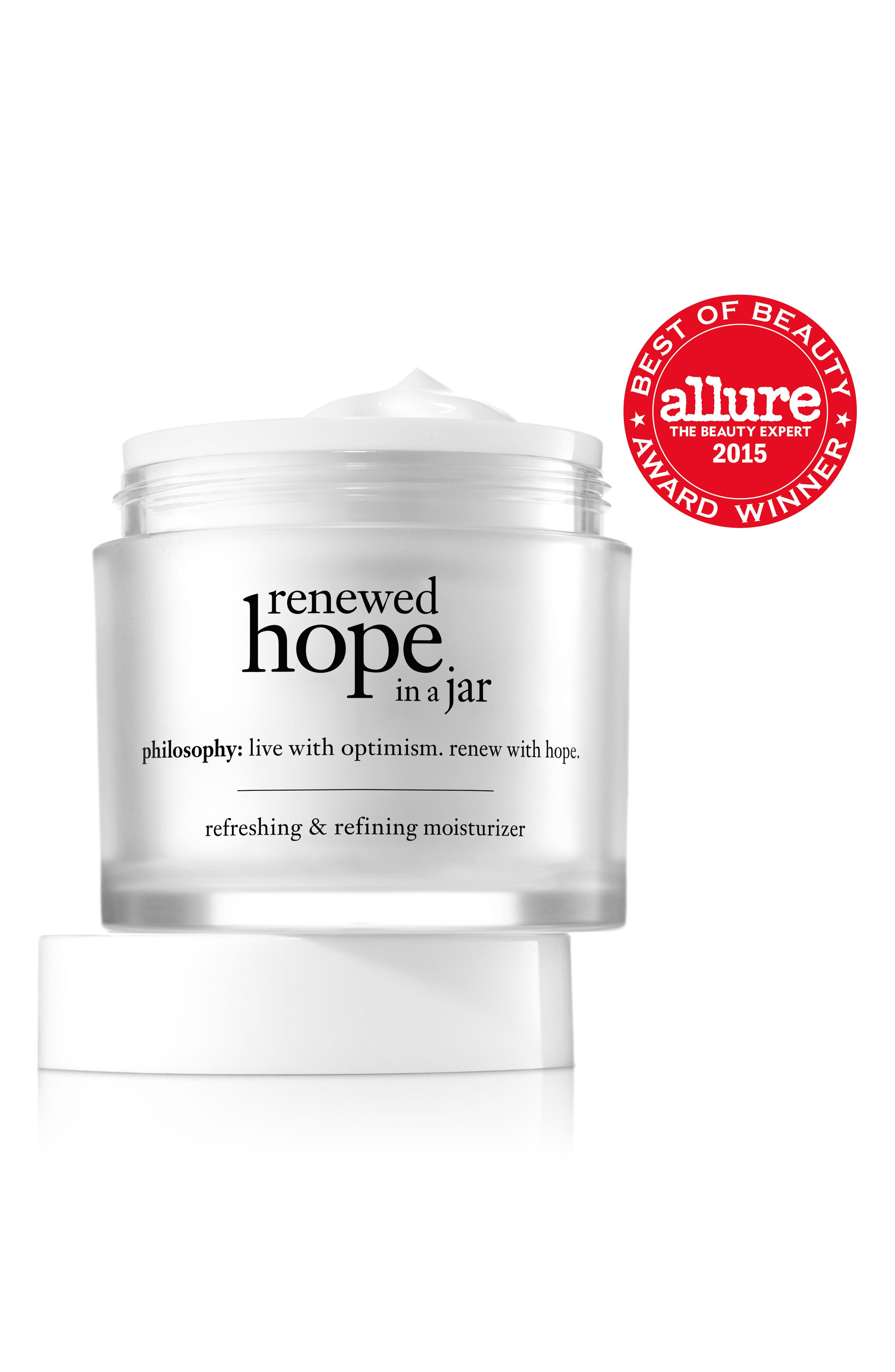 PHILOSOPHY, renewed hope in a jar refreshing & refining moisturizer, Alternate thumbnail 2, color, NO COLOR