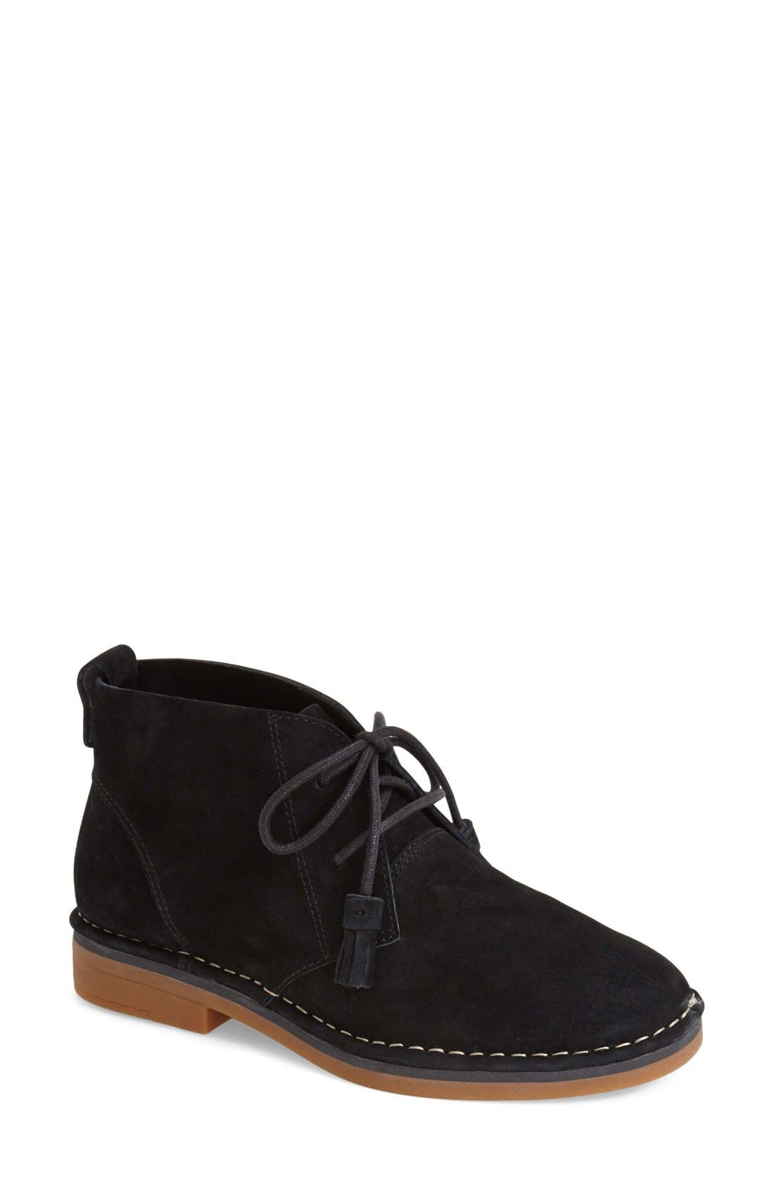 HUSH PUPPIES<SUP>®</SUP> Cyra Catelyn Chukka Boot, Main, color, BLACK SUEDE