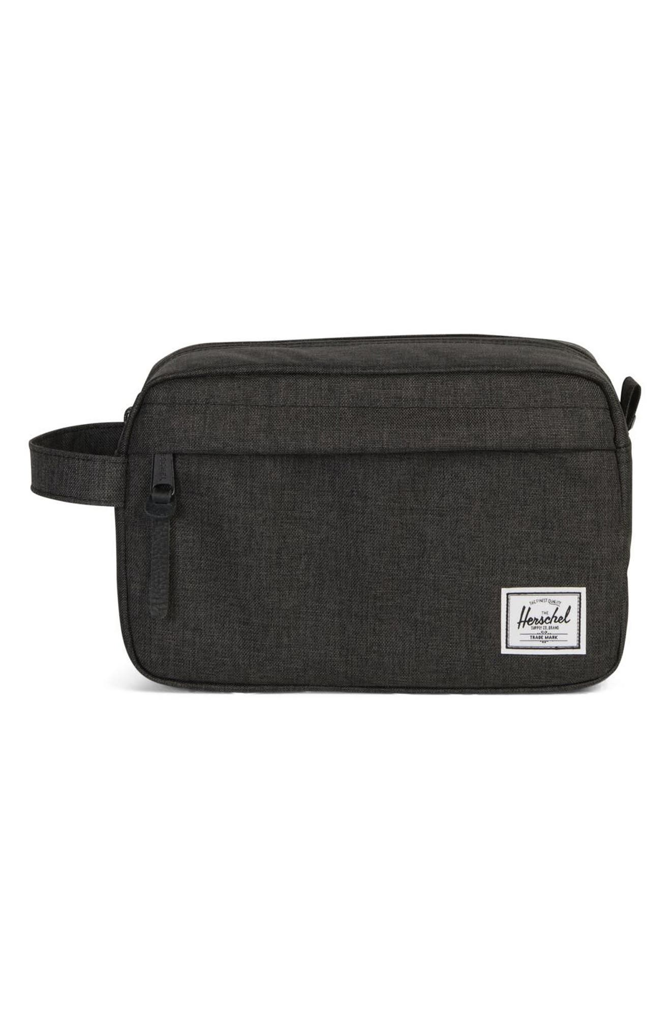 HERSCHEL SUPPLY CO., Chapter Dopp Kit, Main thumbnail 1, color, BLACK CROSSHATCH