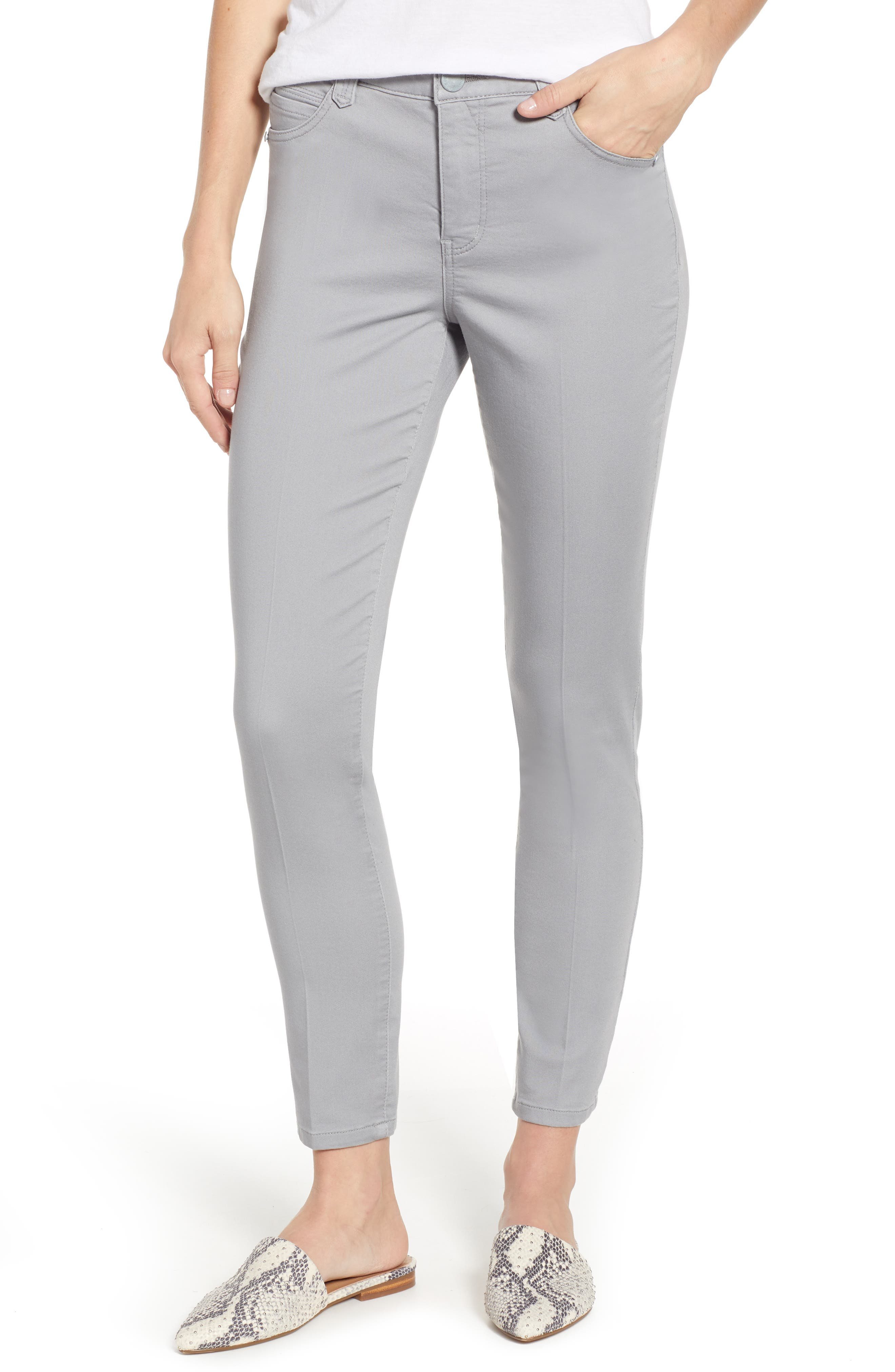 WIT & WISDOM High Rise Ab-Solution Ankle Pants, Main, color, DOVE GREY