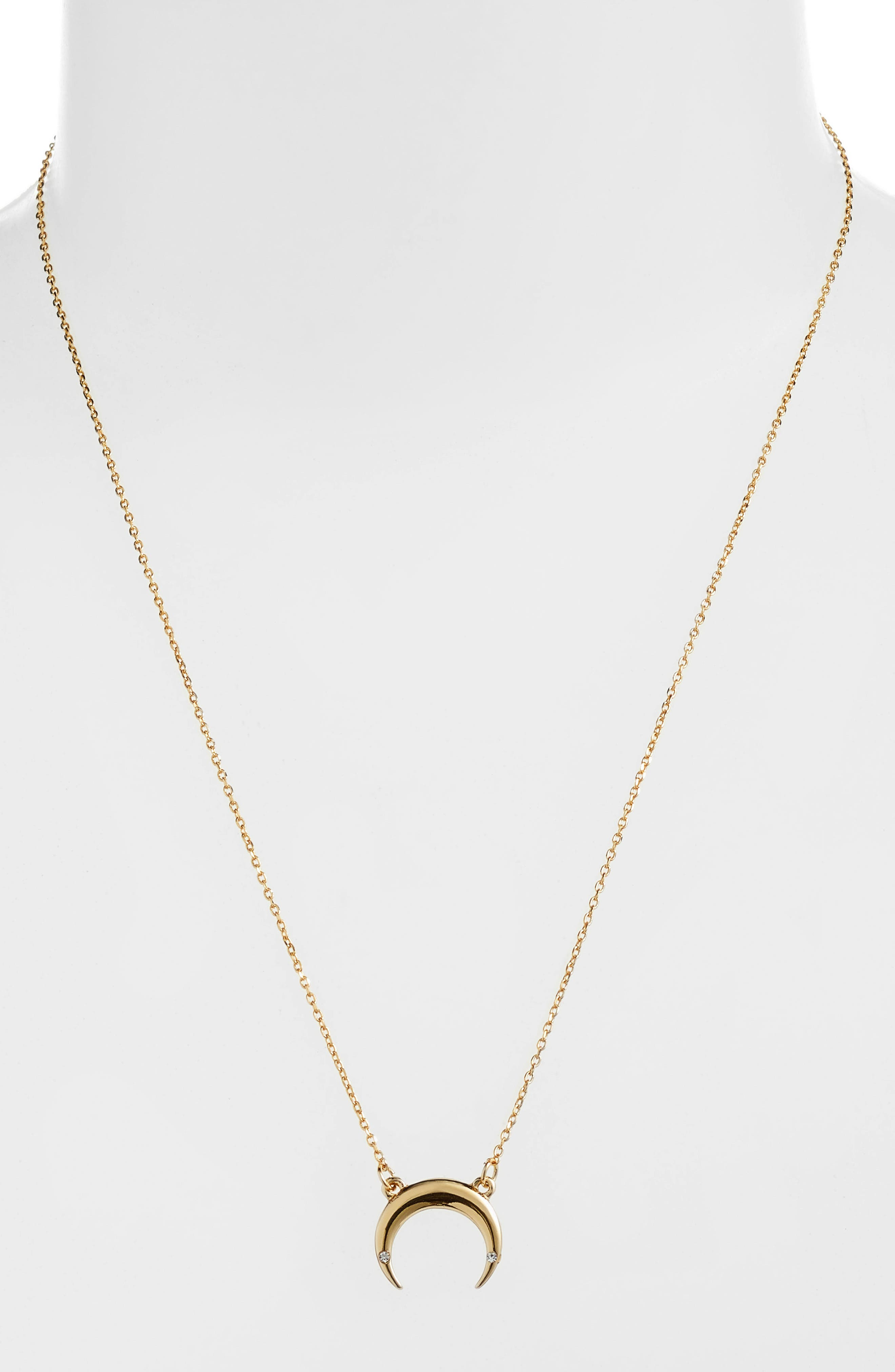 UNCOMMON JAMES BY KRISTIN CAVALLARI, Crescent Necklace, Alternate thumbnail 2, color, GOLD
