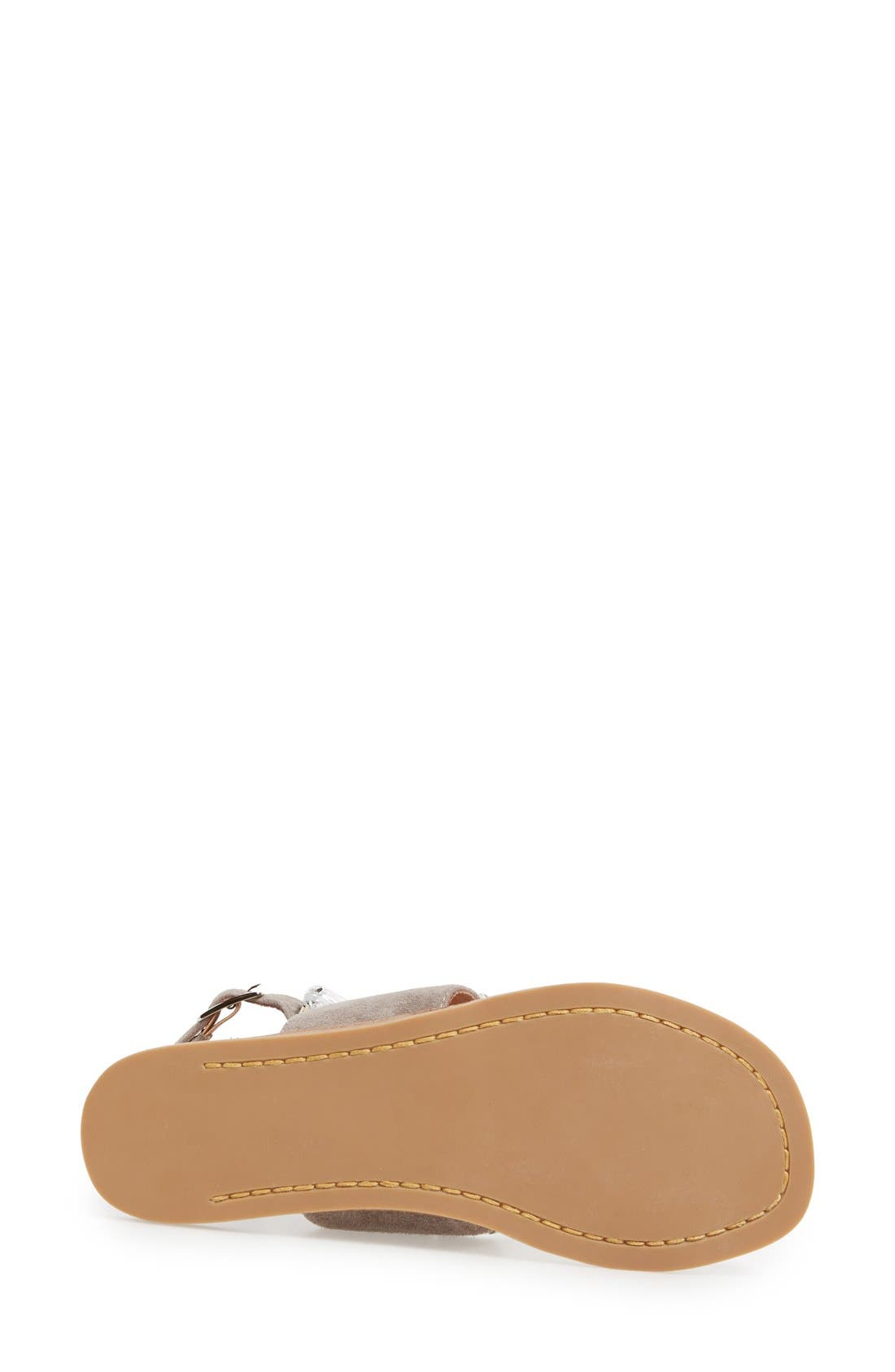 JEFFREY CAMPBELL, 'Sabita' Jeweled Suede Ankle Strap Sandal, Alternate thumbnail 5, color, 060