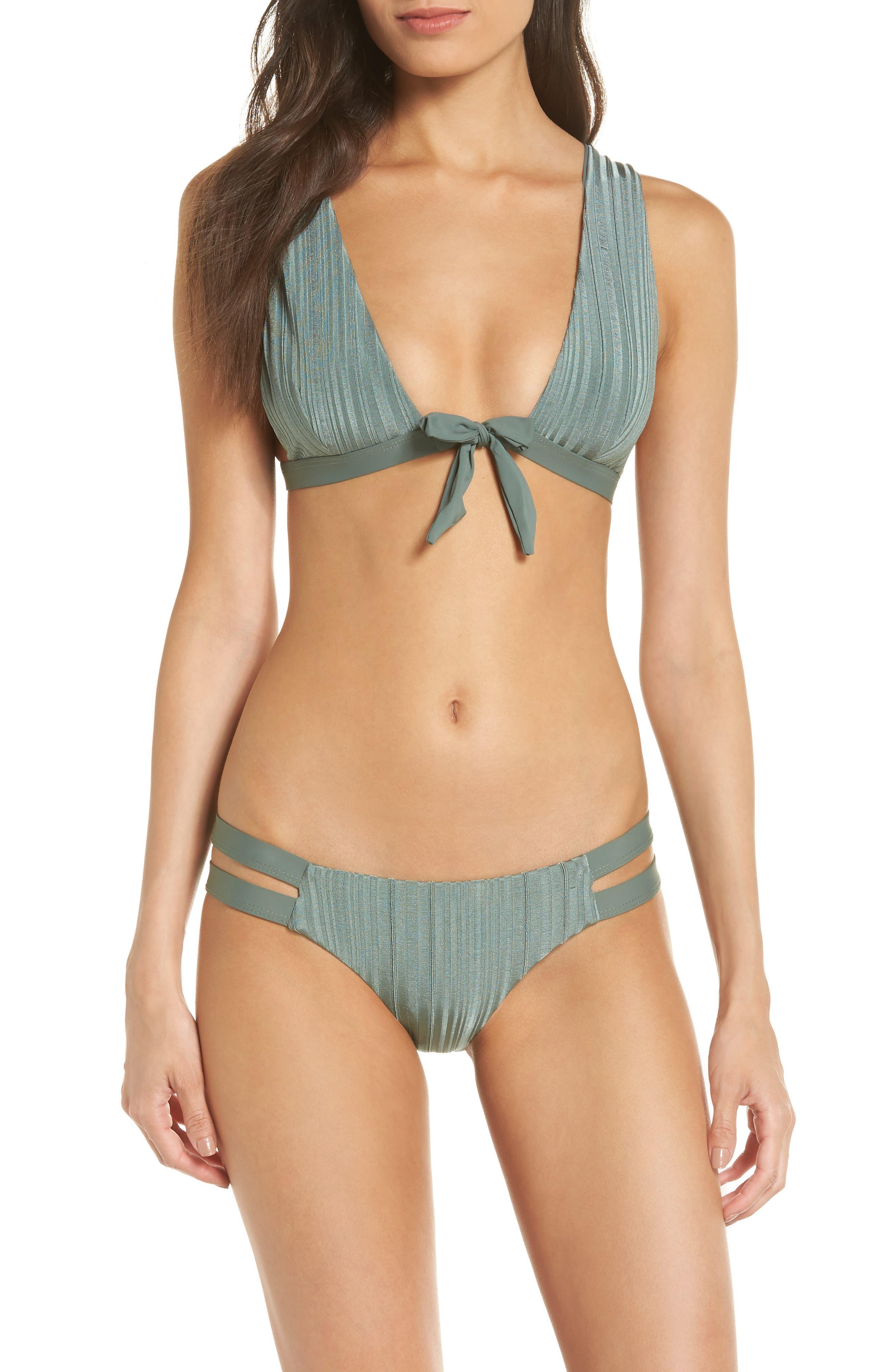TAVIK, Caroline Bikini Top, Alternate thumbnail 8, color, MEADOW GREEN