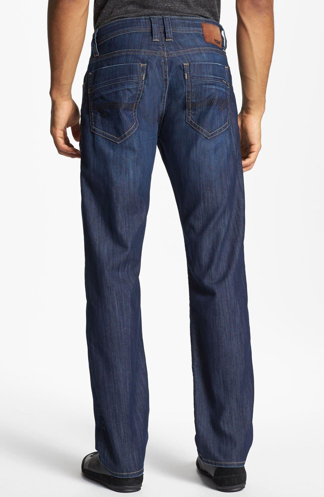 MAVI JEANS, Zach Straight Leg Jeans, Alternate thumbnail 10, color, DARK MAUI