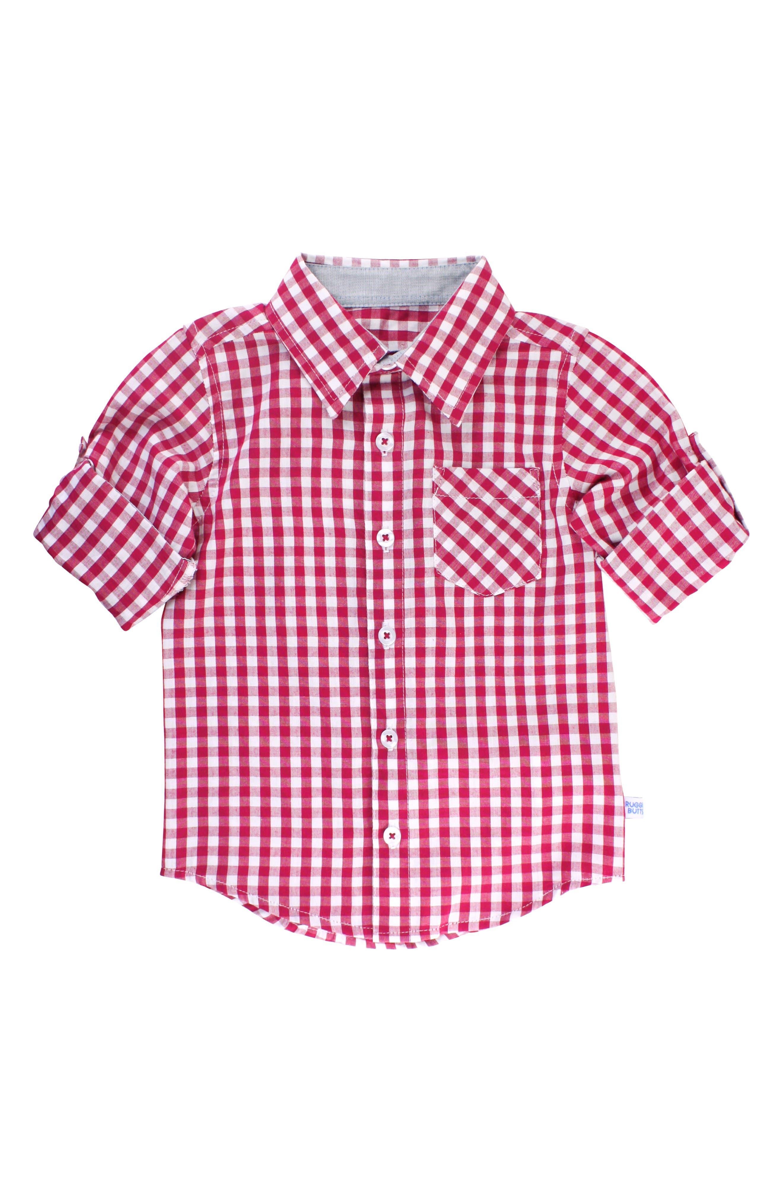 RUGGEDBUTTS, Gingham Shirt & Pullover Sweater Set, Alternate thumbnail 2, color, 300