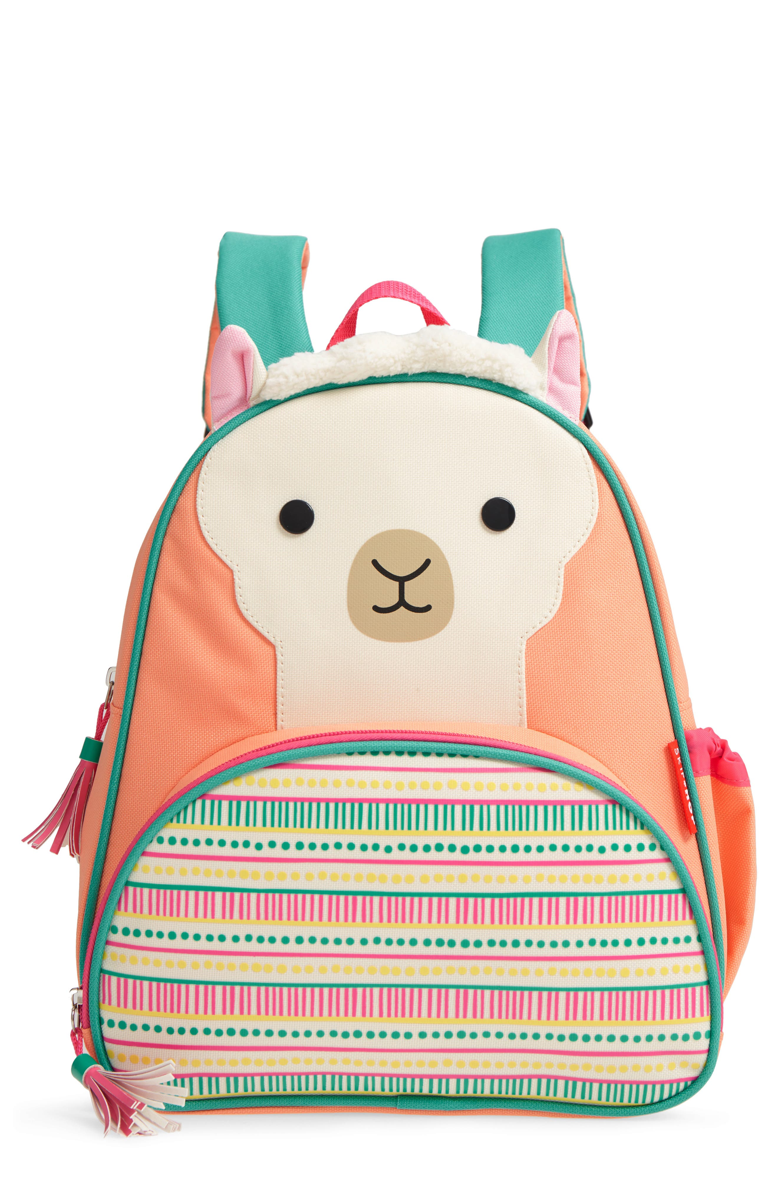 SKIP HOP Zoo Pack Llama Backpack, Main, color, PINK MULTI