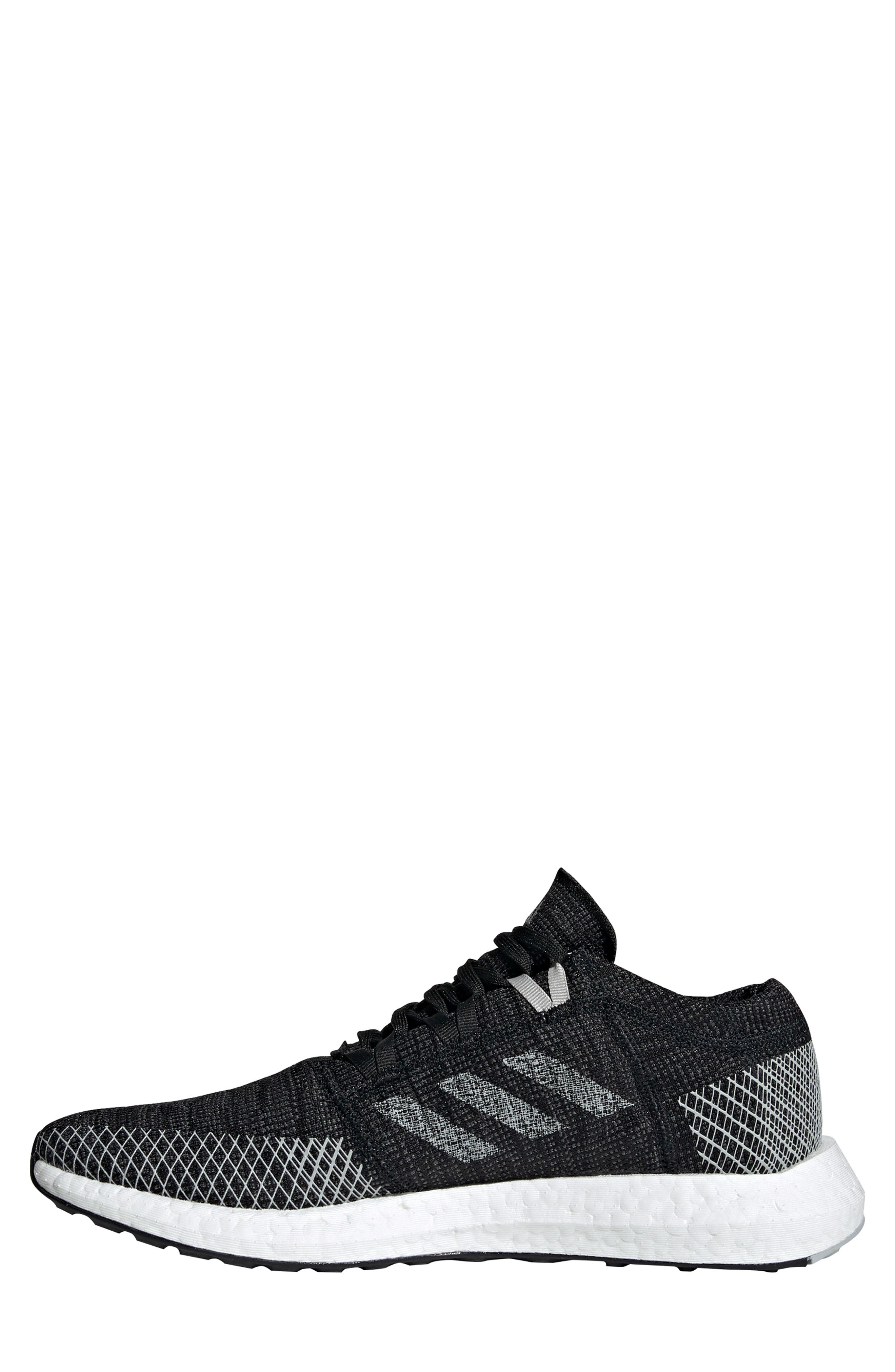 ADIDAS, PureBoost Go Running Shoe, Alternate thumbnail 9, color, CORE BLACK/ GREY