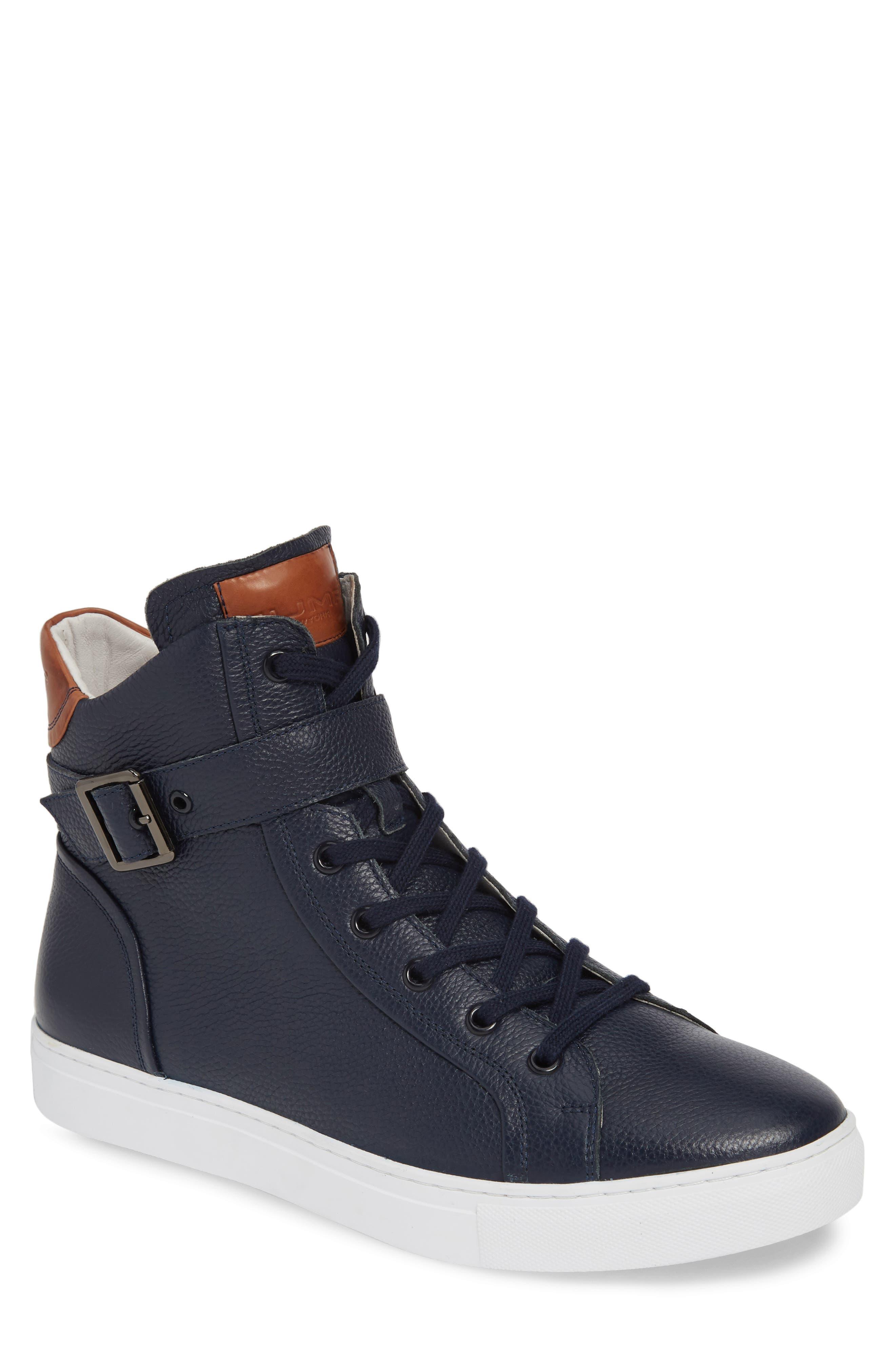 JUMP, Bloke Sneaker, Main thumbnail 1, color, NAVY LEATHER