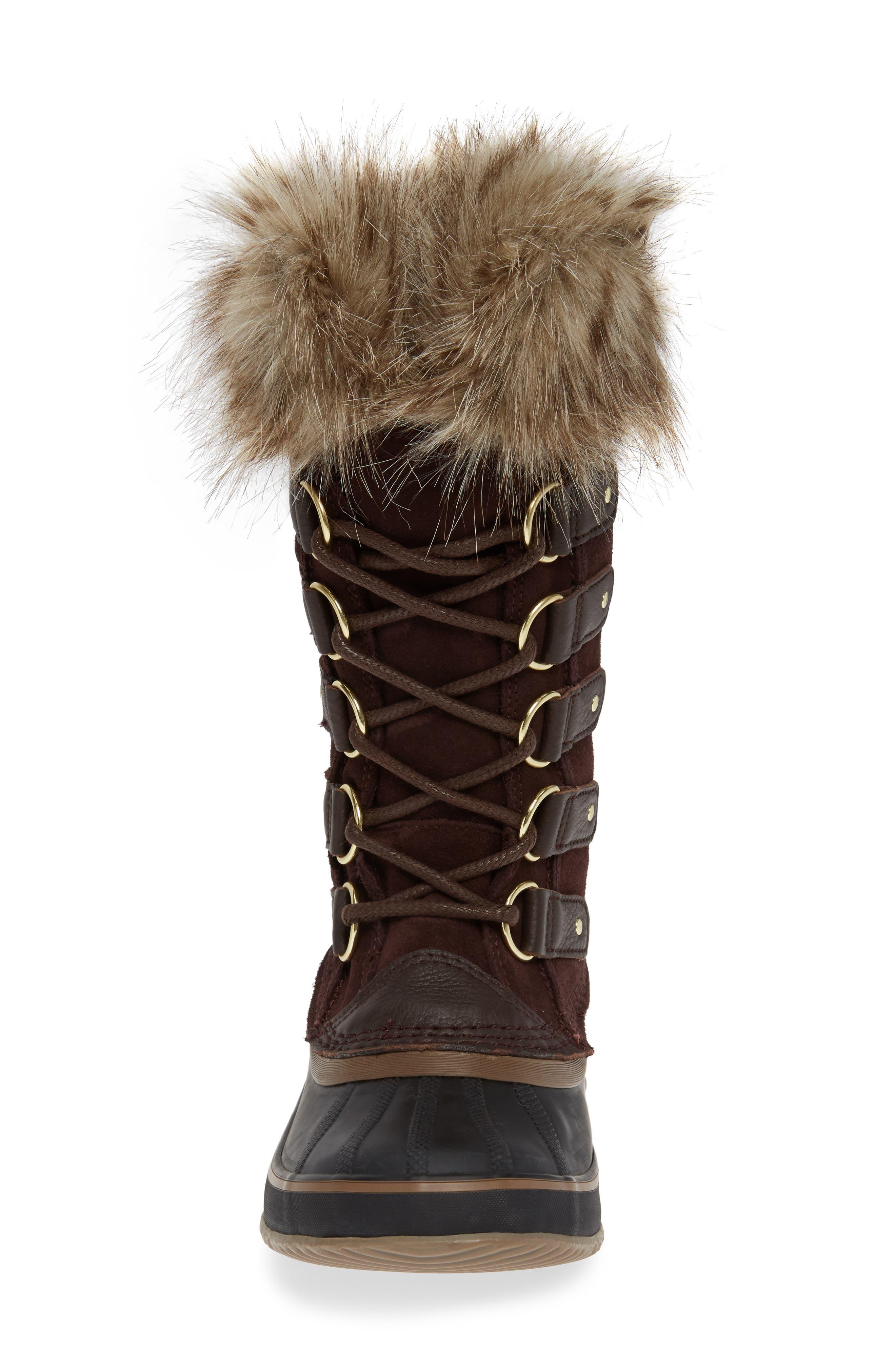 SOREL, 'Joan of Arctic' Waterproof Snow Boot, Alternate thumbnail 4, color, 201