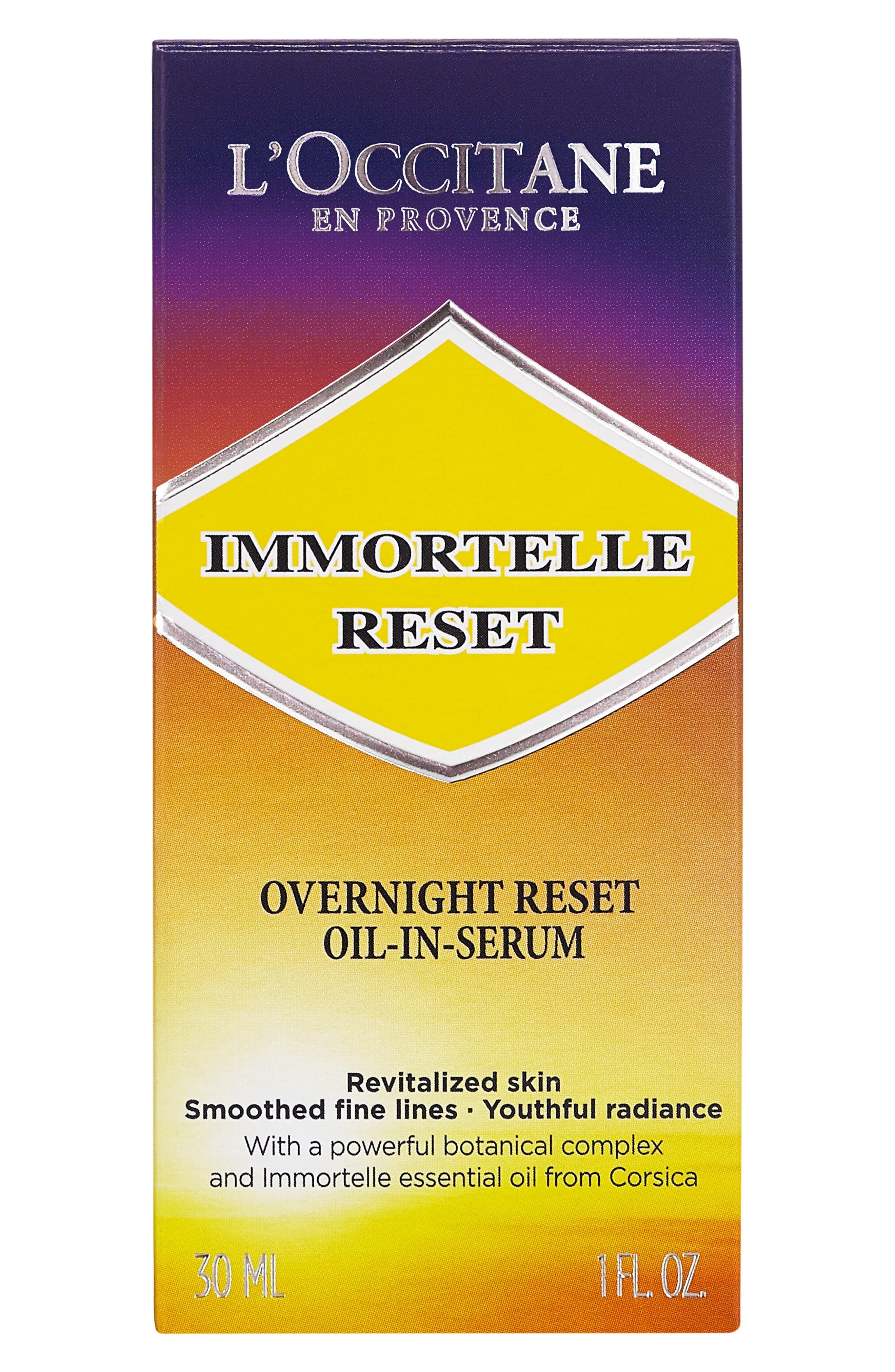 L'OCCITANE, Immortelle Overnight Reset Oil-in-Serum, Alternate thumbnail 3, color, 000
