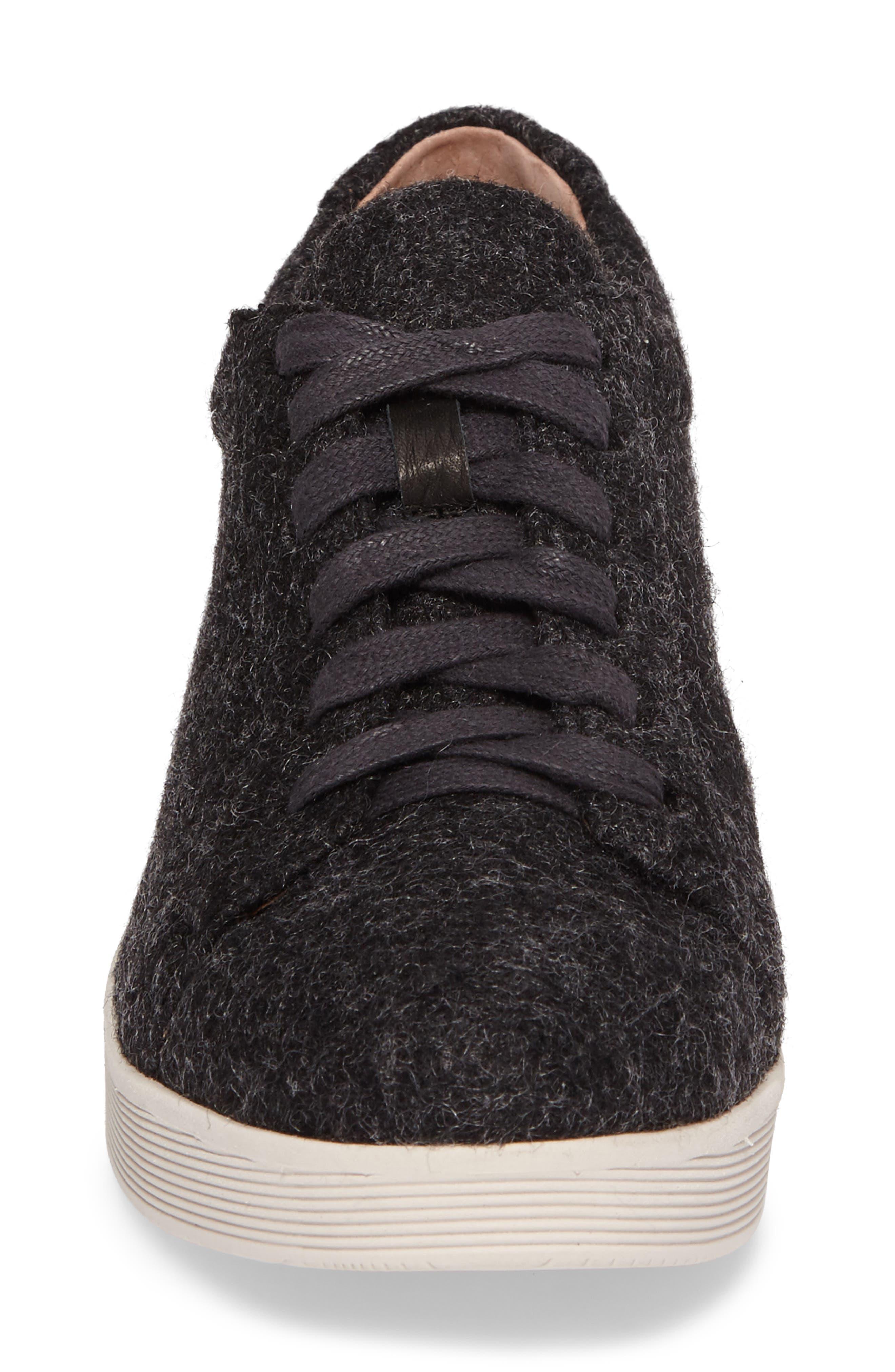 GENTLE SOULS BY KENNETH COLE, Haddie Low Platform Sneaker, Alternate thumbnail 4, color, HEATHER GREY WOOL