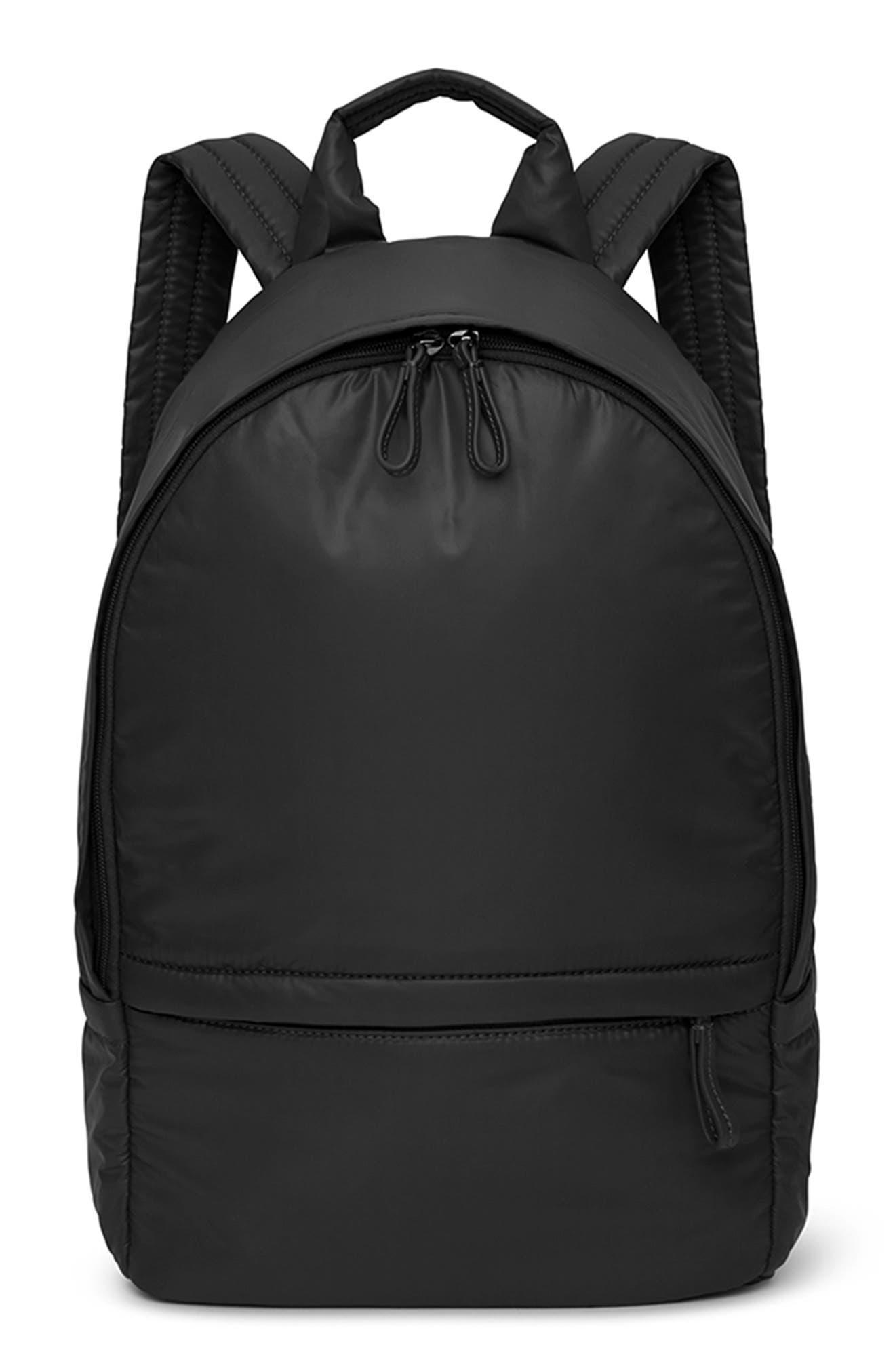 CARAA, Stratus Waterproof Backpack, Main thumbnail 1, color, BLACK