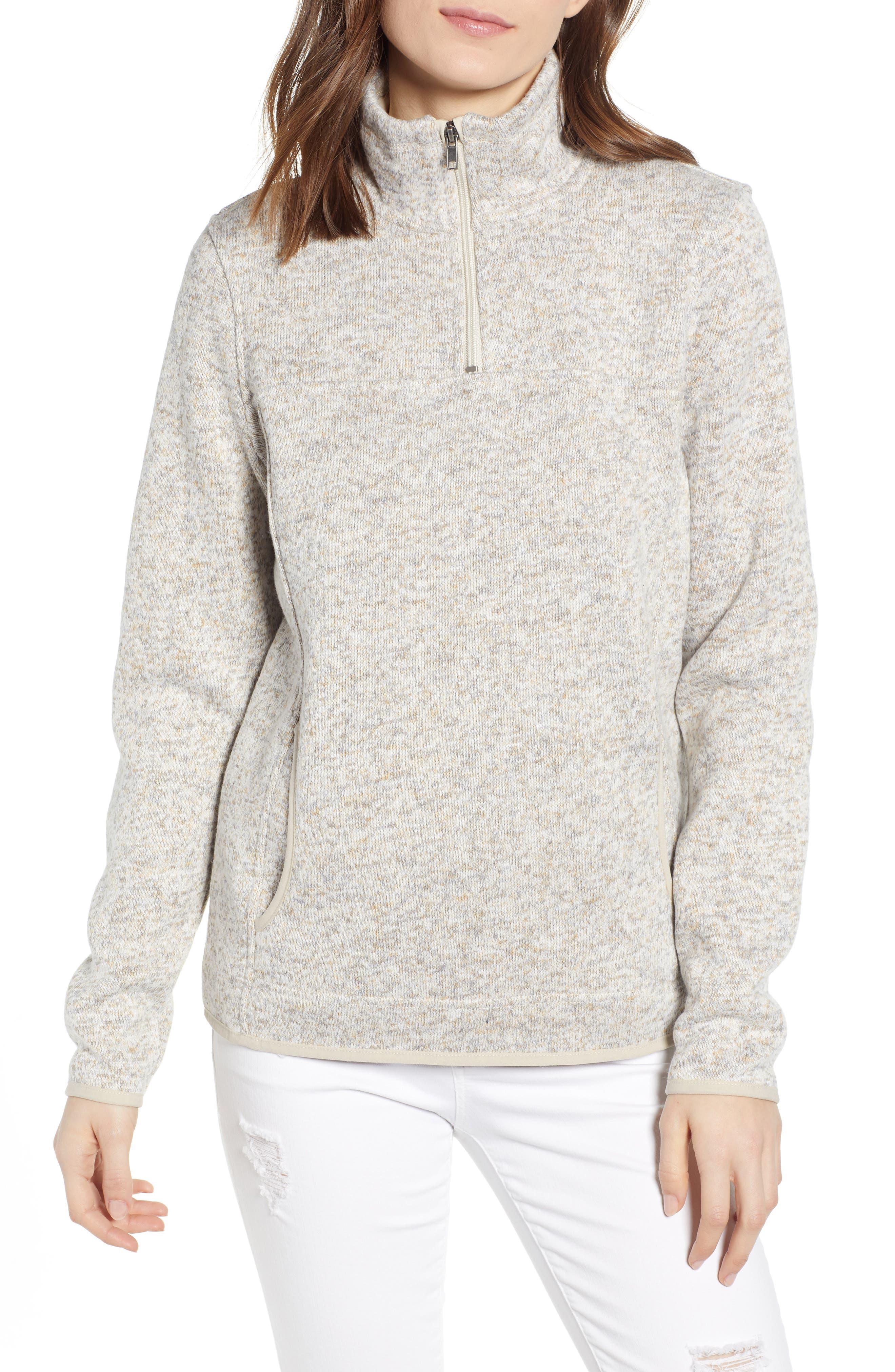 THREAD & SUPPLY Madison Fleece Jacket, Main, color, HEATHER OATMEAL