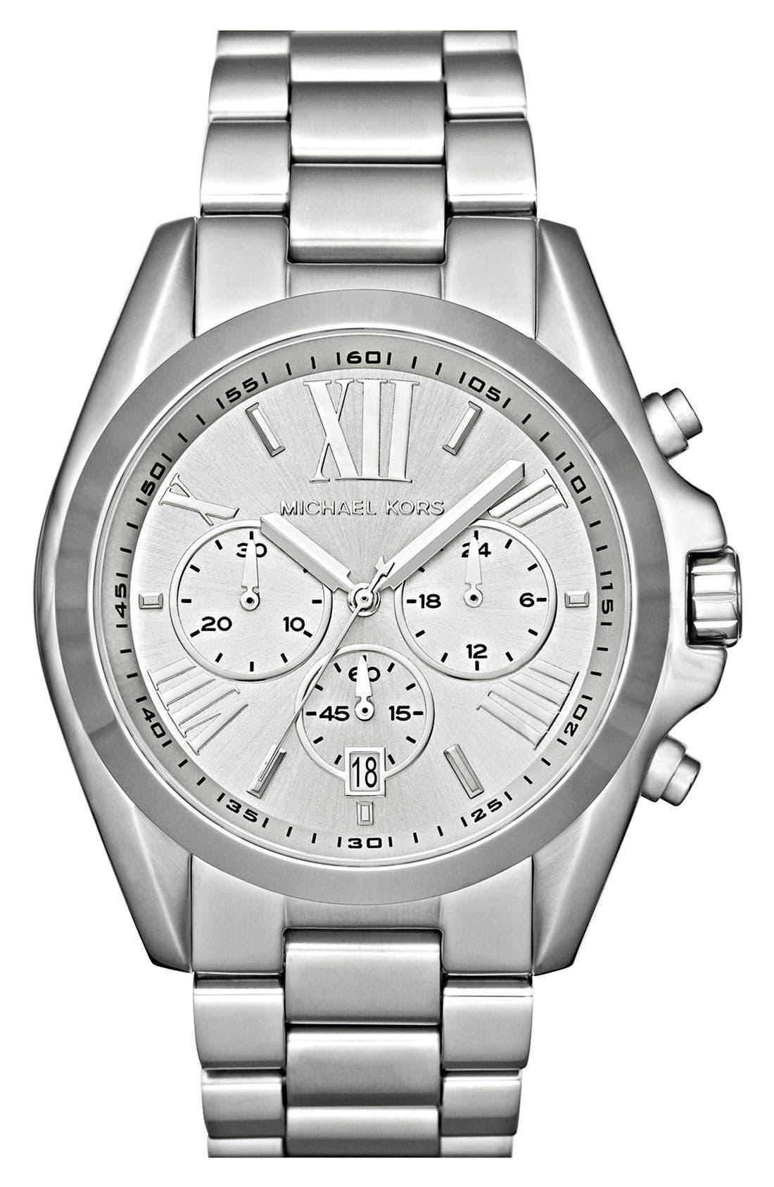 MICHAEL KORS, Bradshaw Chronograph Bracelet Watch, 43mm, Main thumbnail 1, color, 040