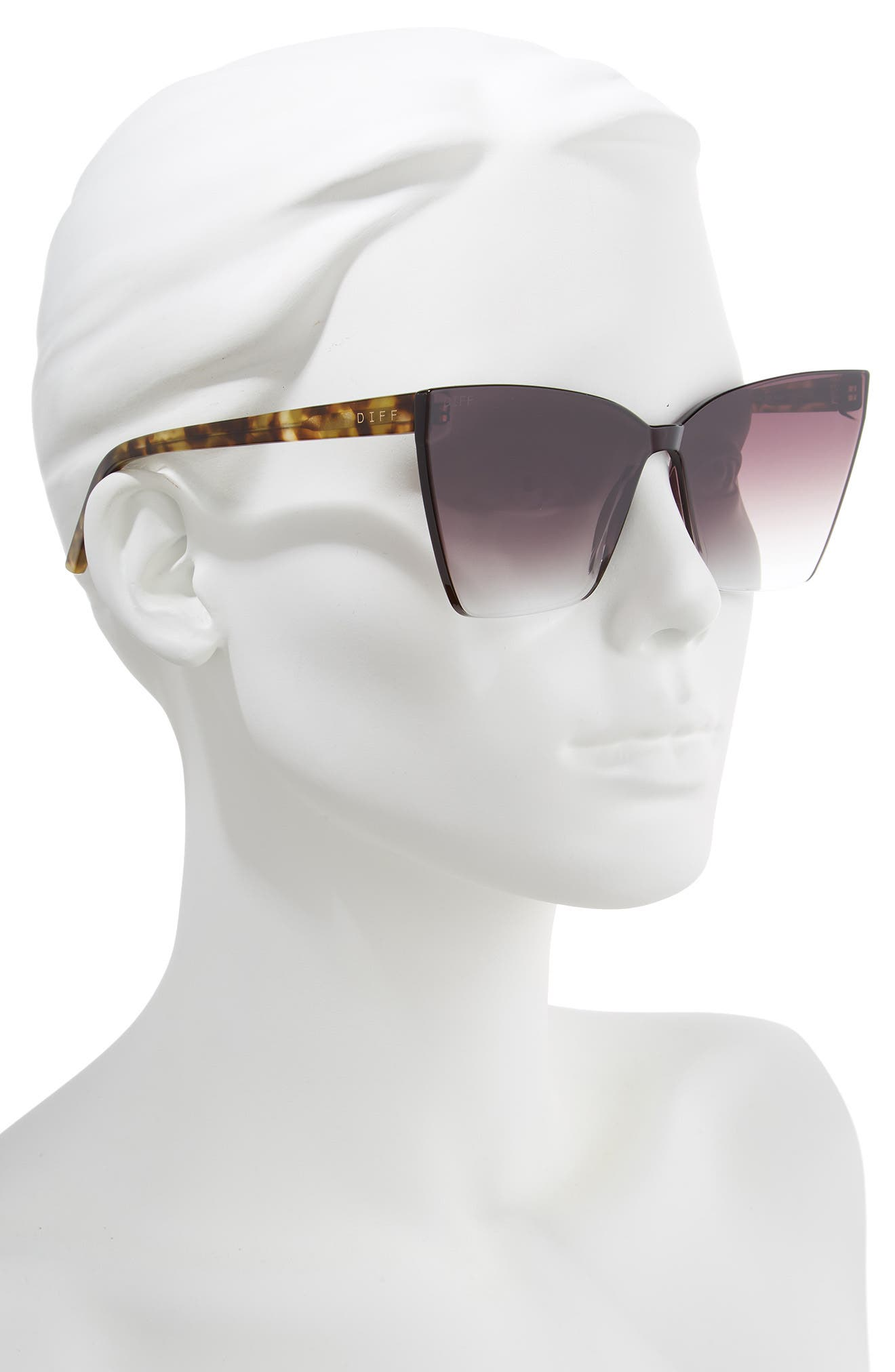 DIFF, Goldie 56mm Cat Eye Sunglasses, Alternate thumbnail 2, color, 200