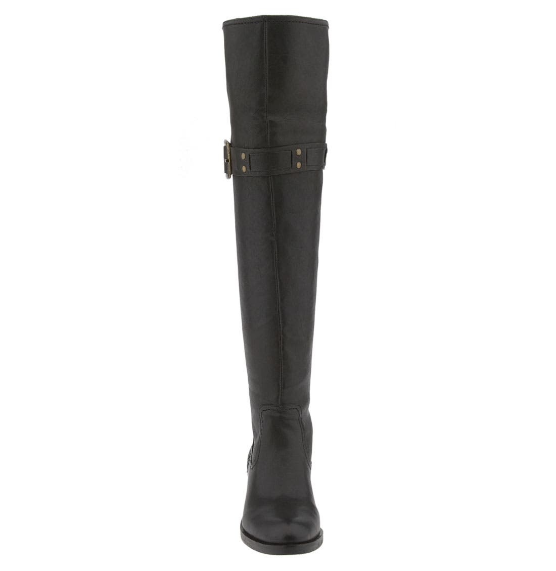 JESSICA SIMPSON, 'Clancey' Over the Knee Boot, Alternate thumbnail 3, color, 001