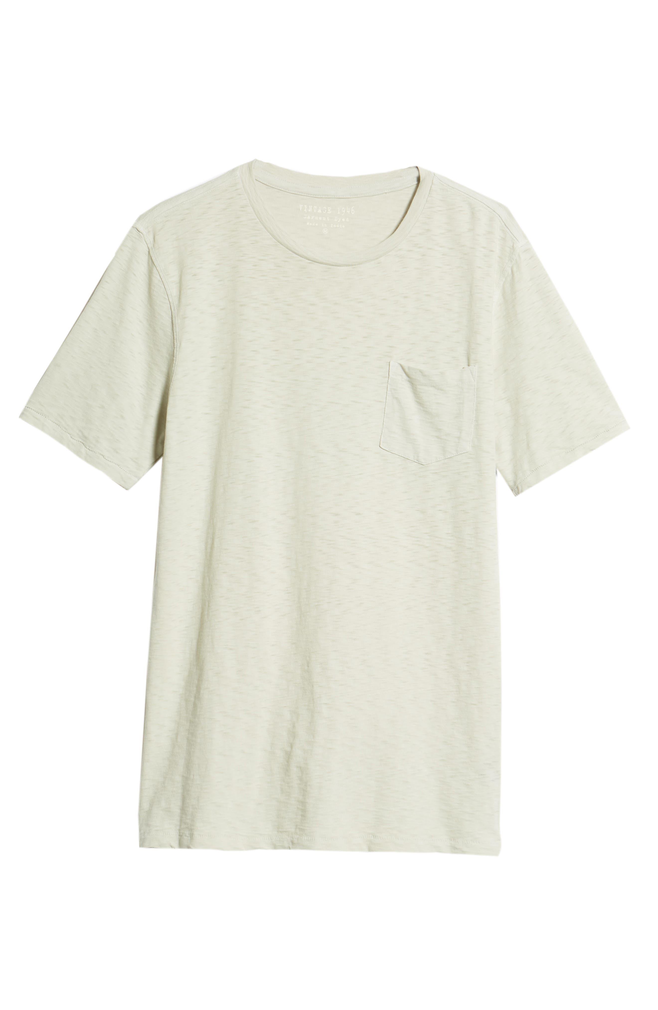 VINTAGE 1946, Negative Slub Knit T-Shirt, Alternate thumbnail 6, color, SMOKE