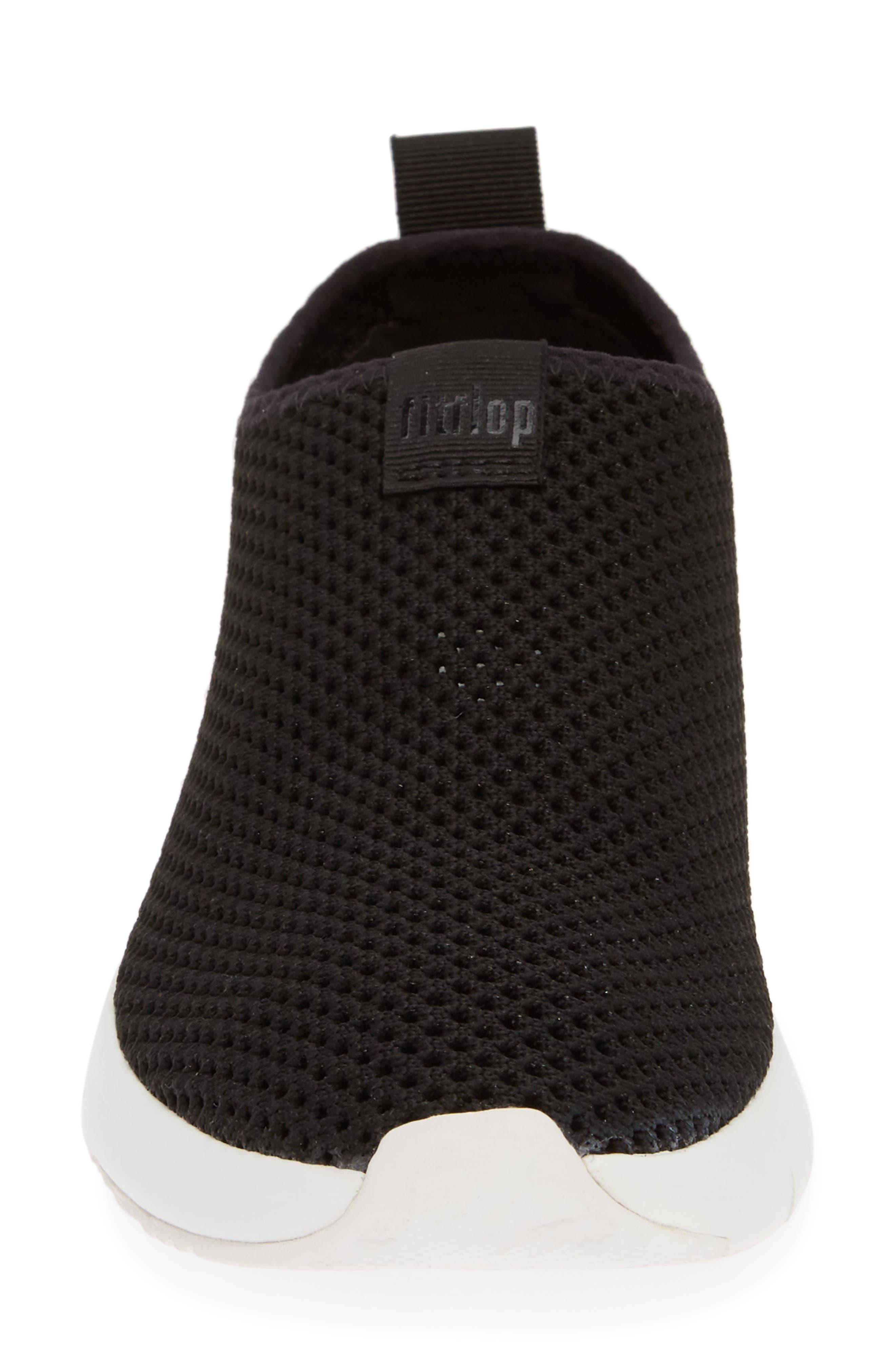 FITFLOP, Airmesh Slip-On Sneaker, Alternate thumbnail 4, color, BLACK