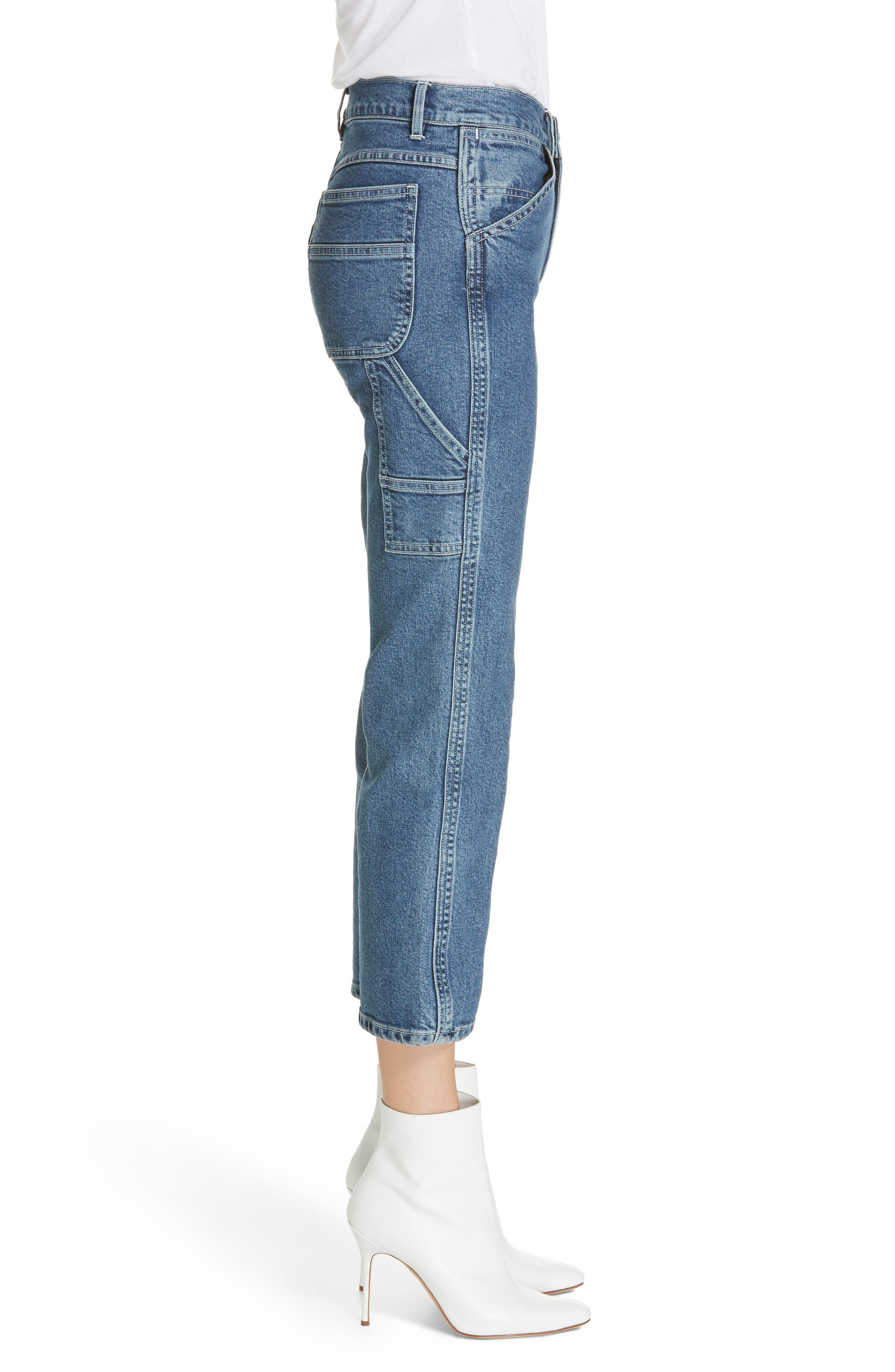 3X1 NYC, Rose Ankle Carpenter Jeans, Alternate thumbnail 4, color, HESTER