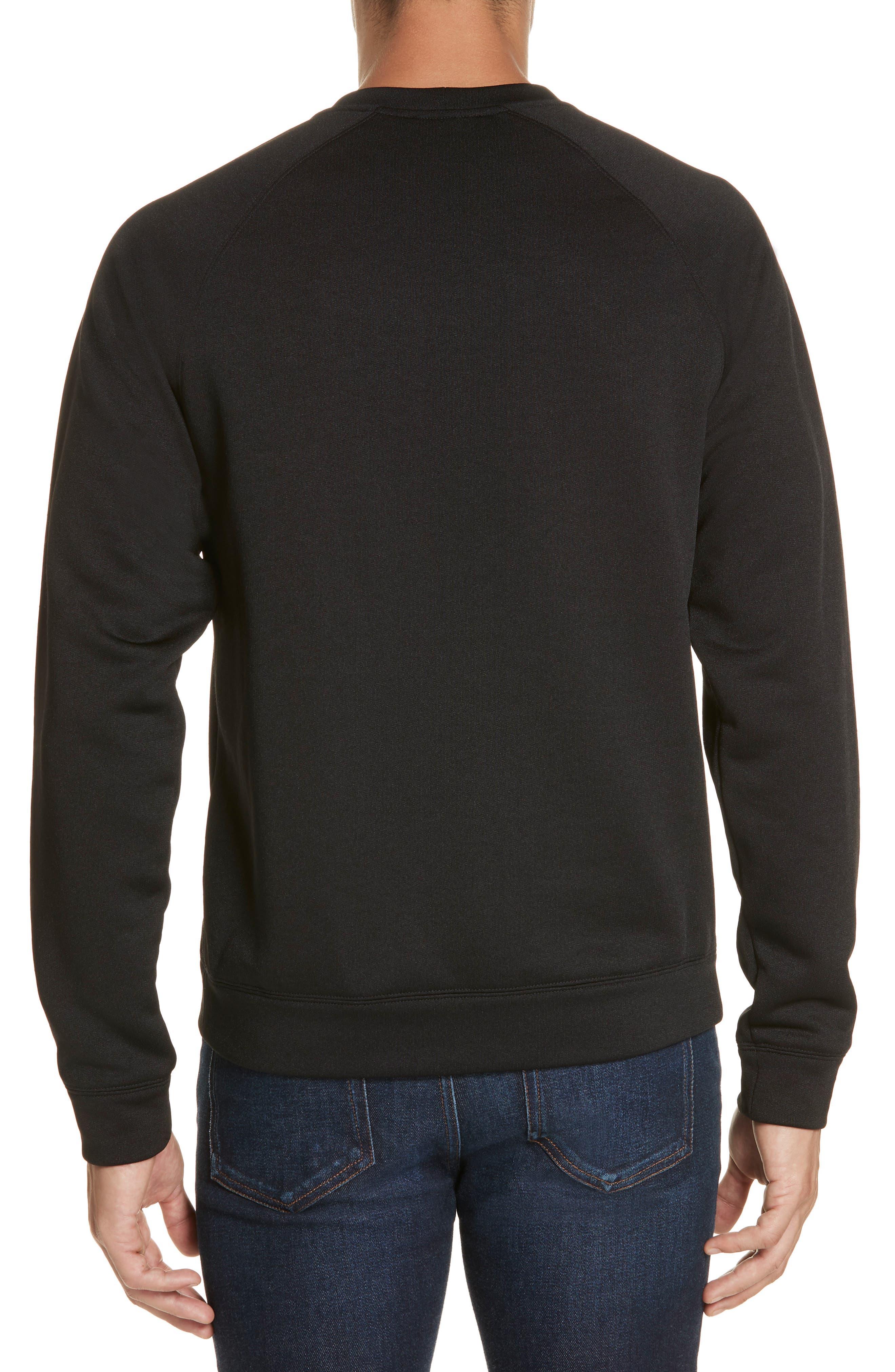 VERSACE COLLECTION, Medusa Print Sweatshirt, Alternate thumbnail 2, color, BLACK/ PAINT