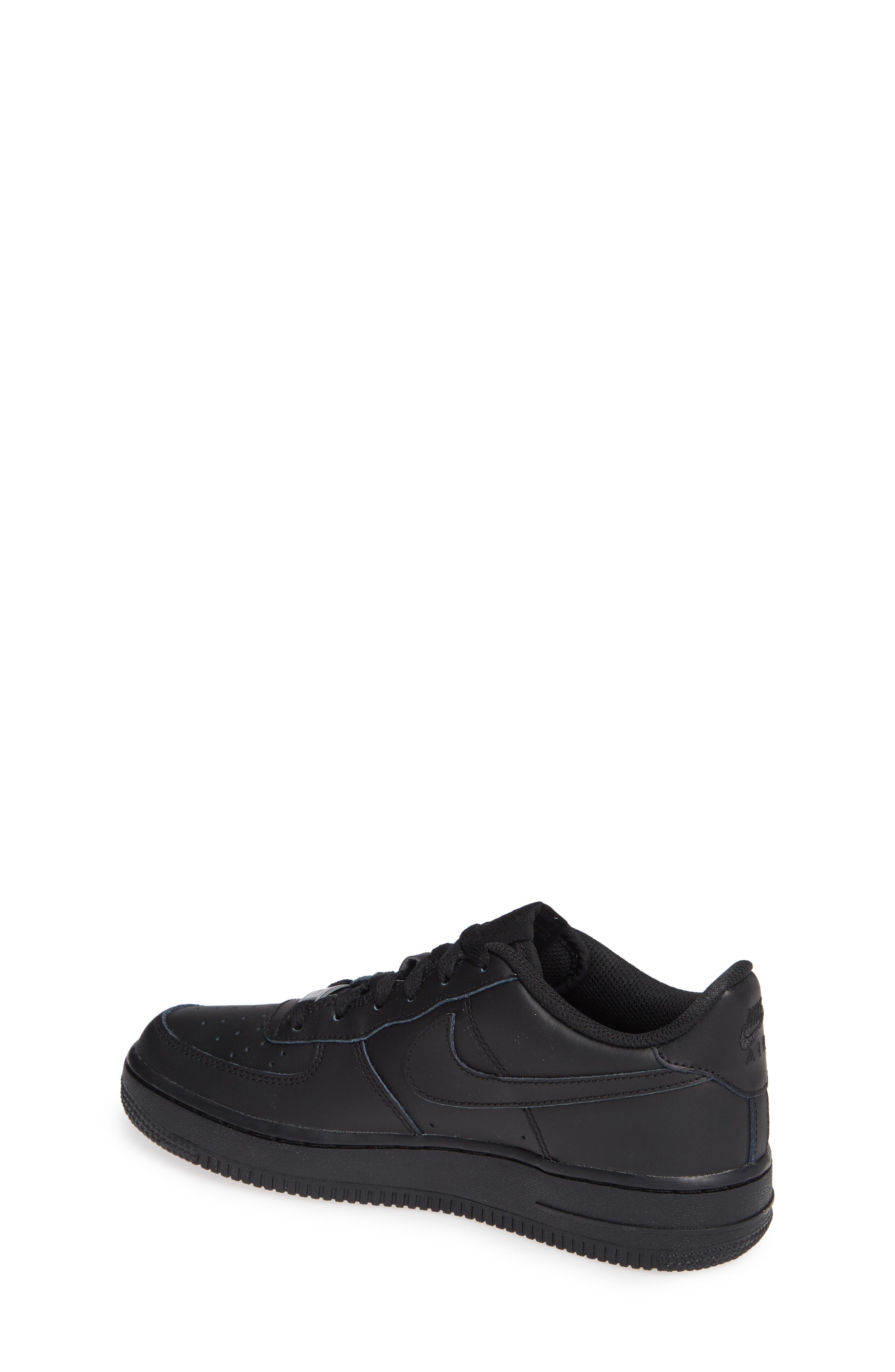 NIKE, Air Force 1 Sneaker, Alternate thumbnail 2, color, BLACK/ BLACK/ BLACK