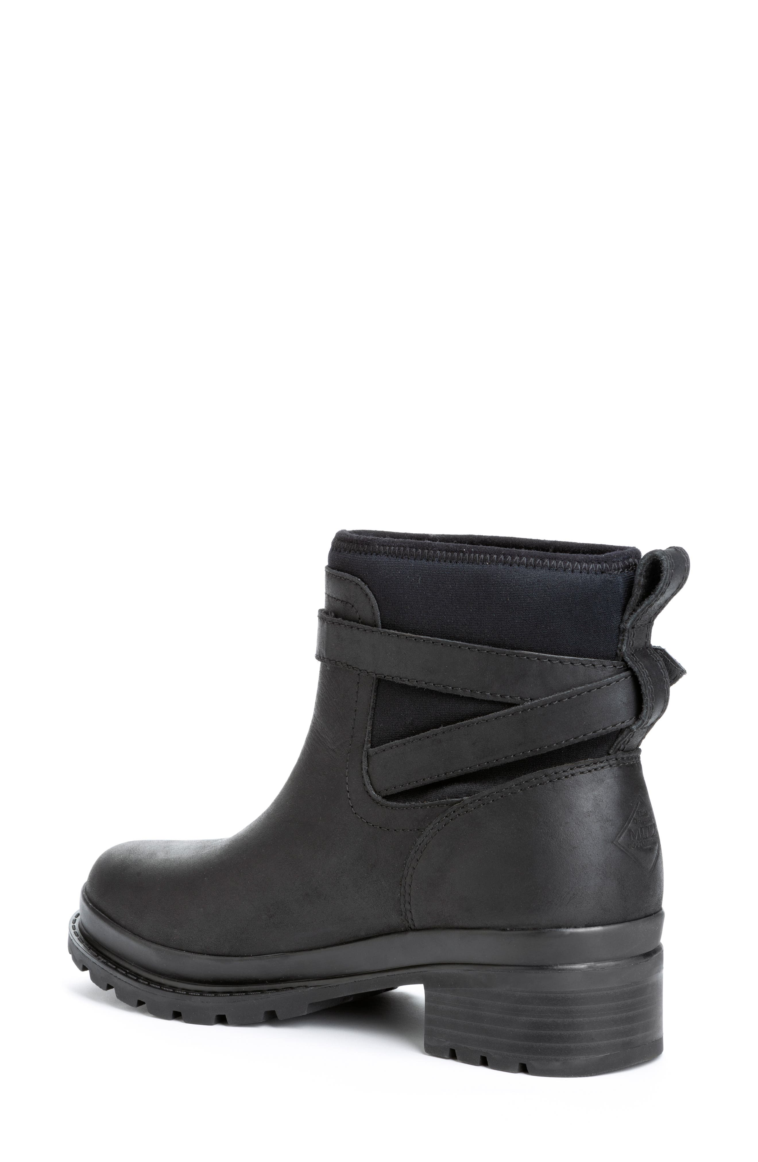 THE ORIGINAL MUCK BOOT COMPANY, Liberty Waterproof Boot, Alternate thumbnail 2, color, BLACK LEATHER