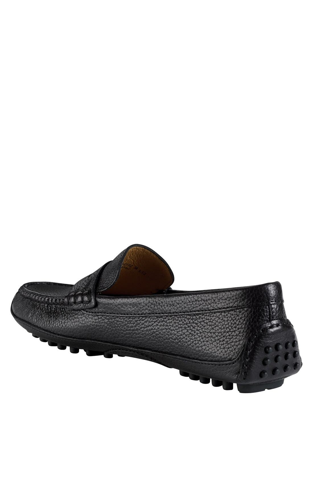 COLE HAAN, 'Grant Canoe' Penny Loafer, Alternate thumbnail 3, color, 001