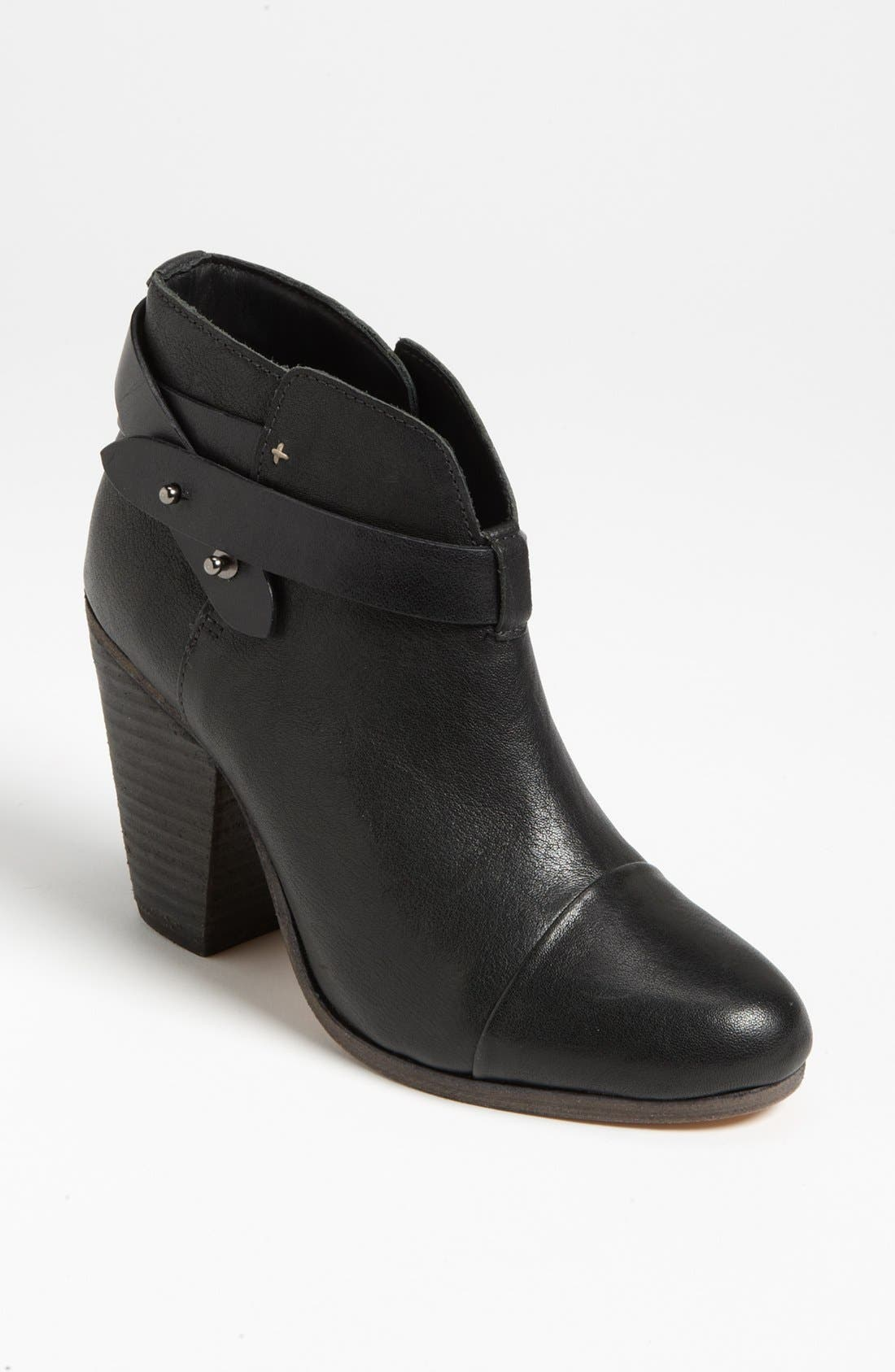 RAG & BONE 'Harrow' Leather Boot, Main, color, BLACK