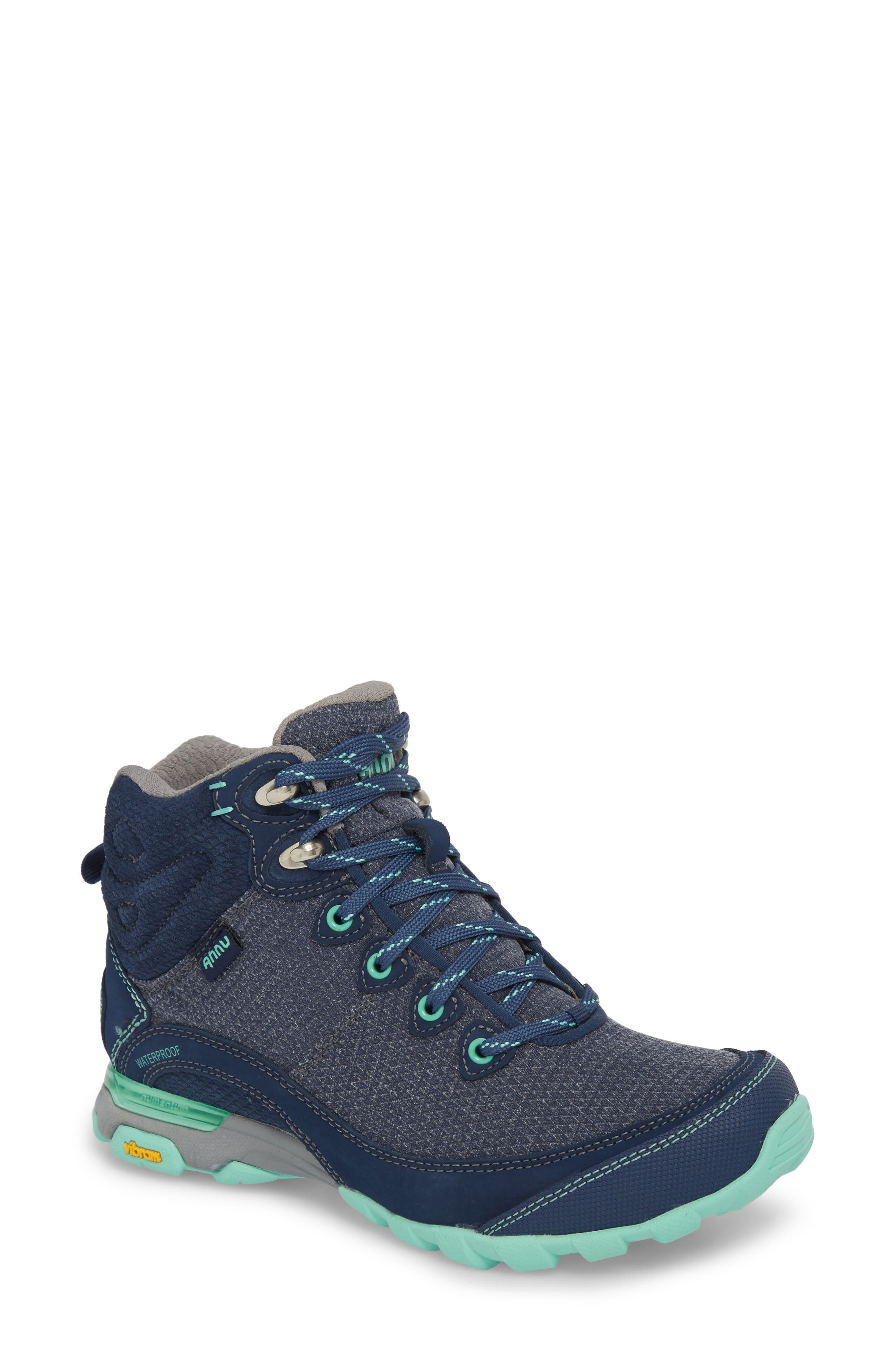 Ahnu By Teva Sugarpine Ii Waterproof Hiking Boot- Blue