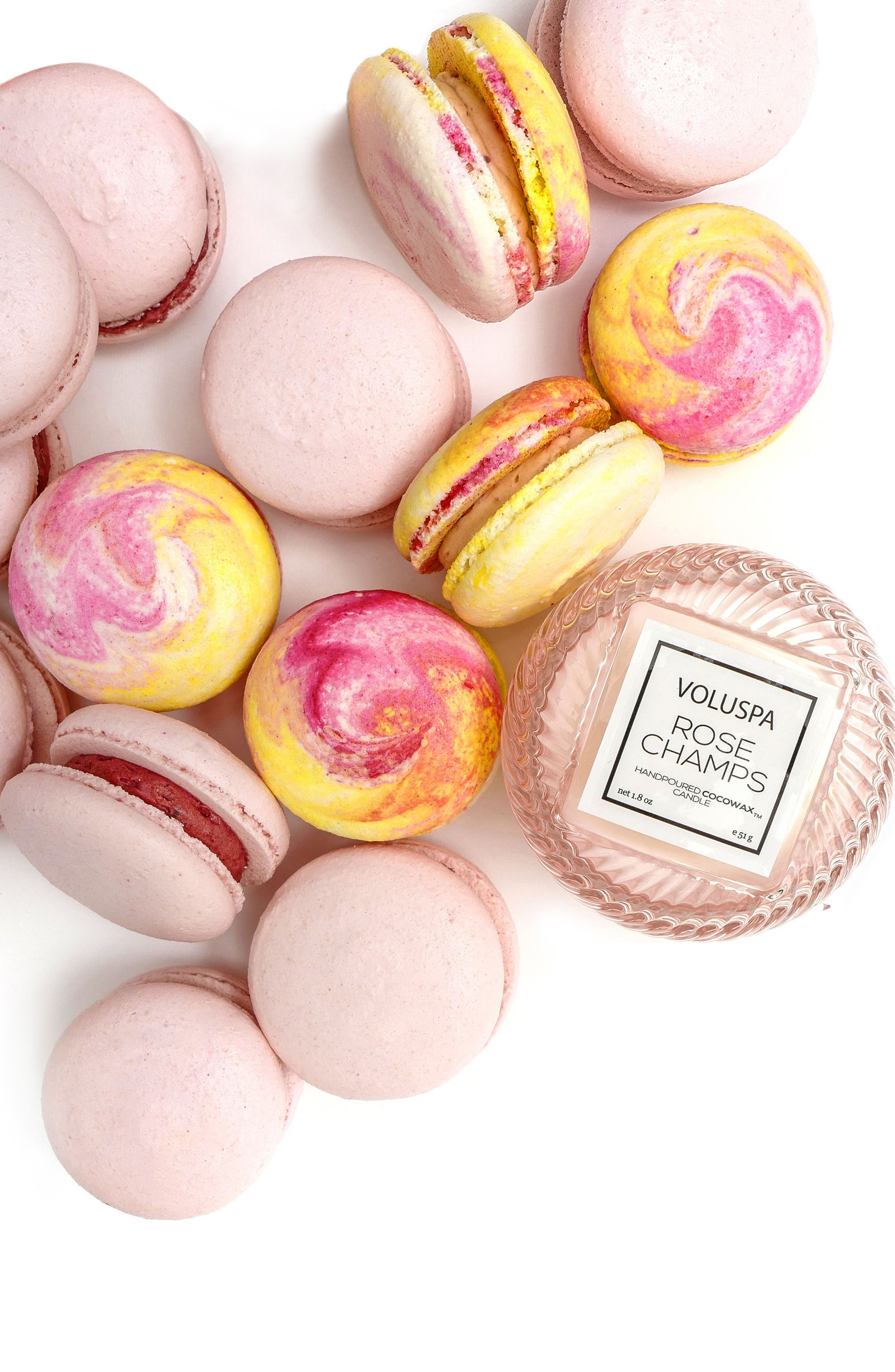 VOLUSPA, Macaron Candle, Alternate thumbnail 8, color, BIRTHDAY CAKE