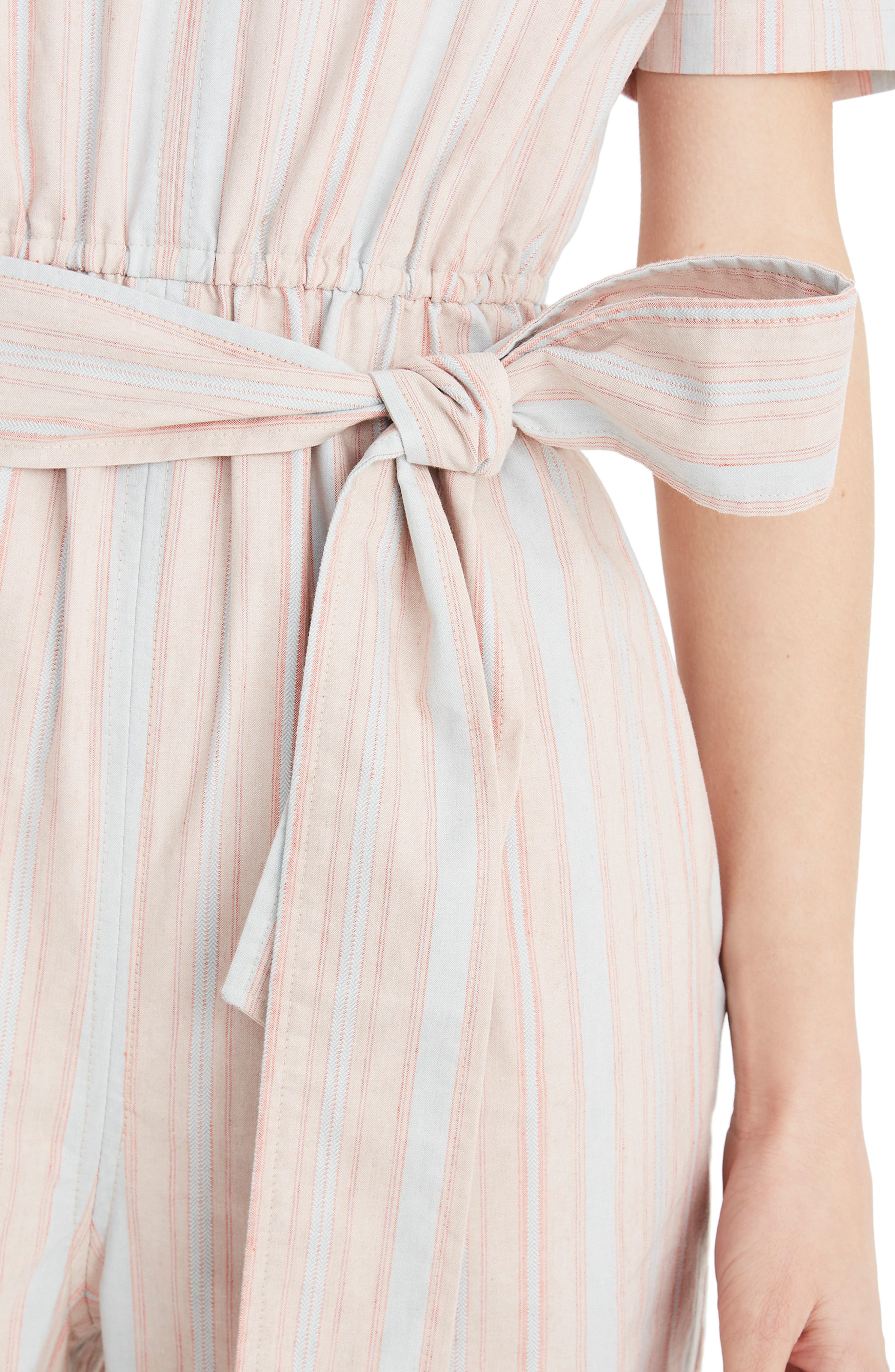 MADEWELL, Puff Sleeve Tapered Jumpsuit, Alternate thumbnail 5, color, 400