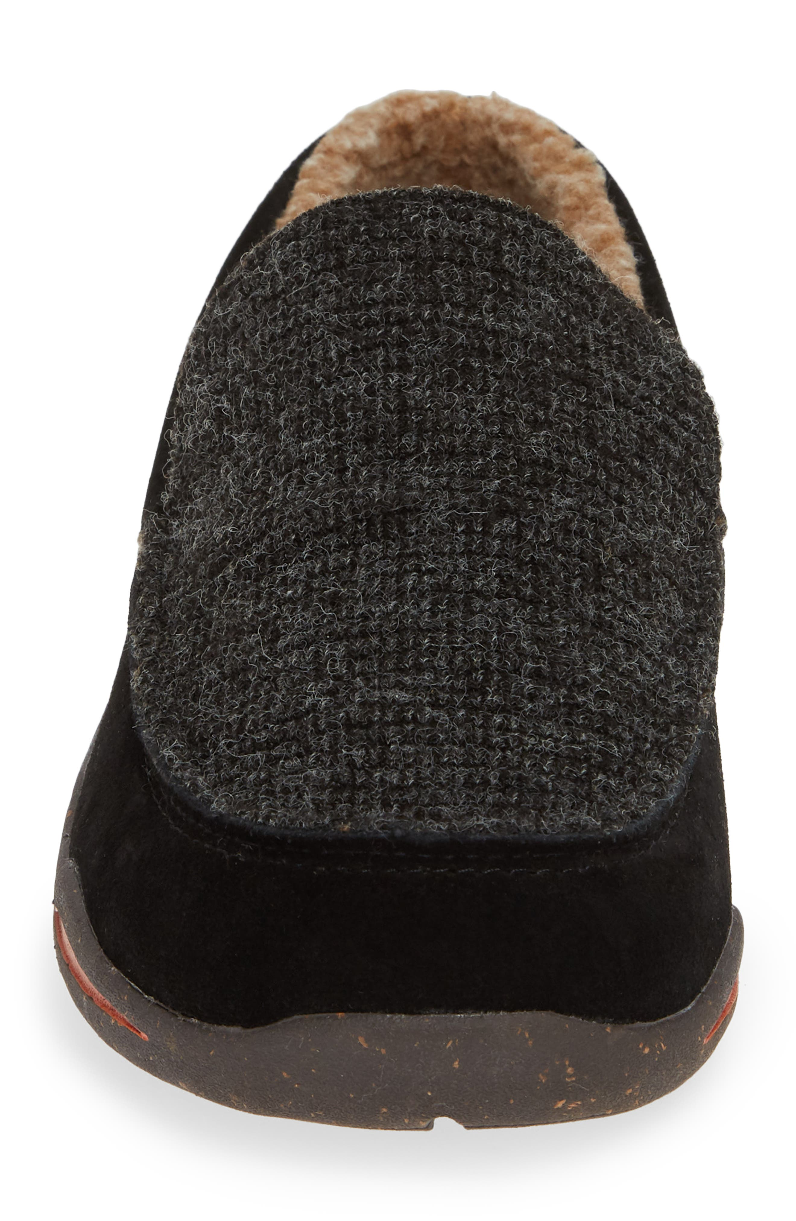 ACORN, Ellsworth Moc Toe Slipper, Alternate thumbnail 4, color, BLACK