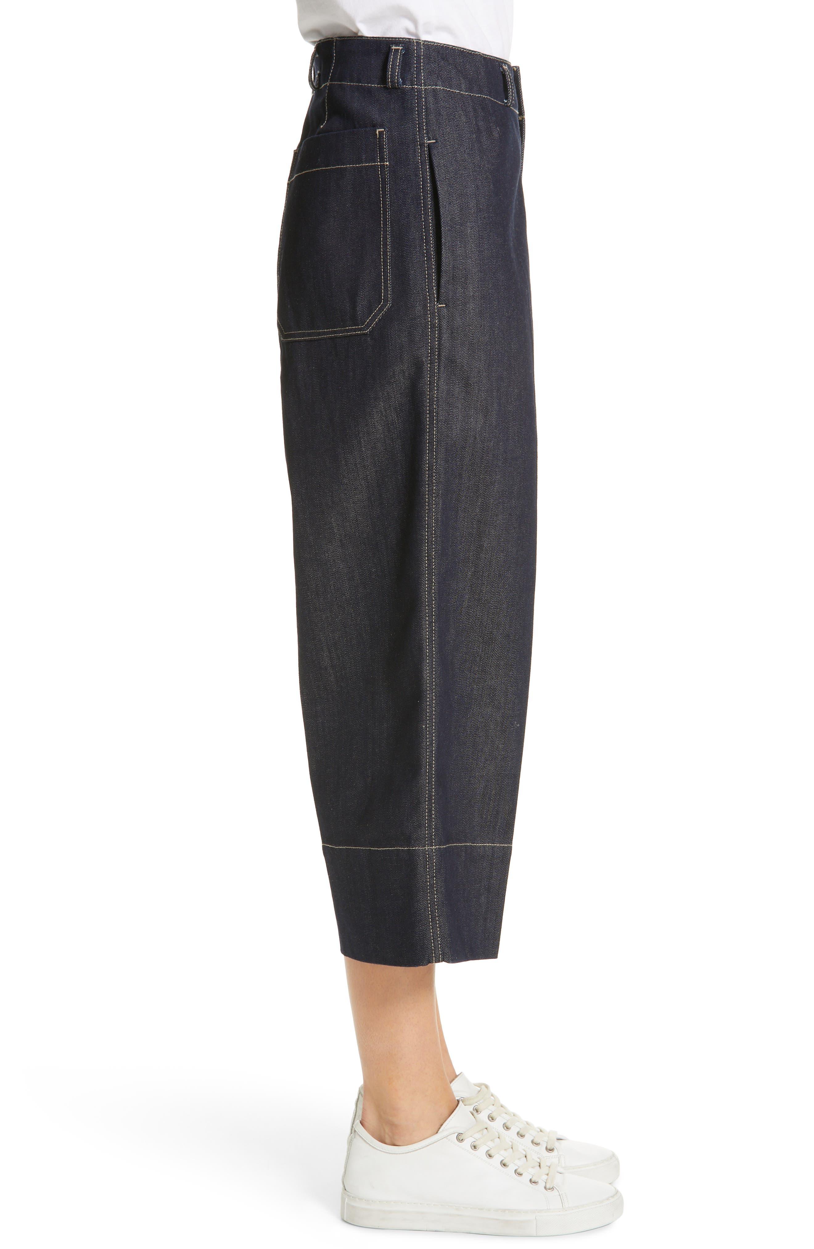 SOFIE D'HOORE, Wide Leg Crop Jeans, Alternate thumbnail 3, color, RAW
