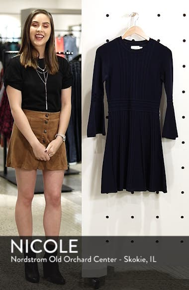 Bell Sleeve Sweater Dress, sales video thumbnail