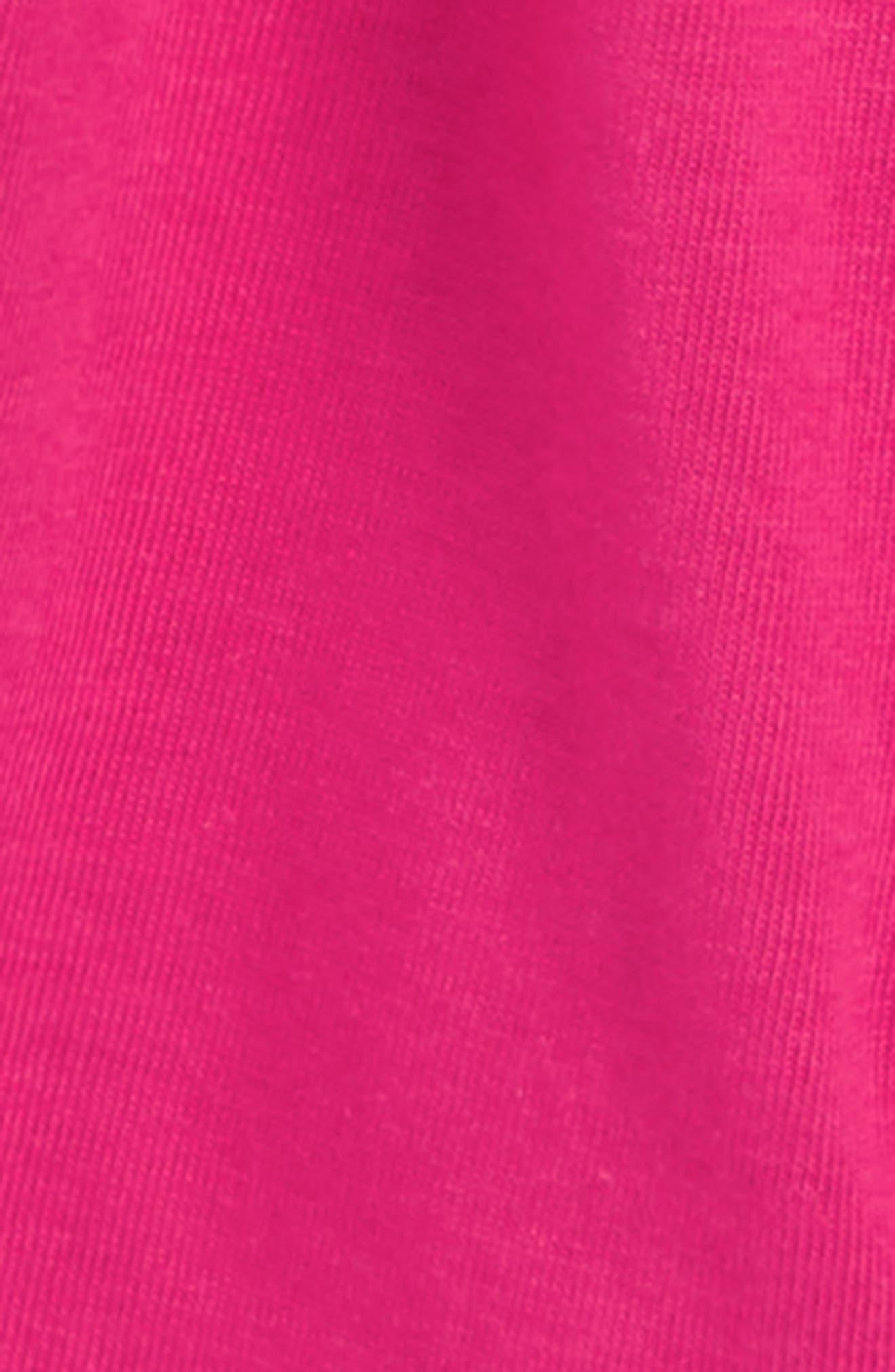 PUMA, Surplice Back Jersey Romper, Alternate thumbnail 3, color, FUCHSIA PURPLE