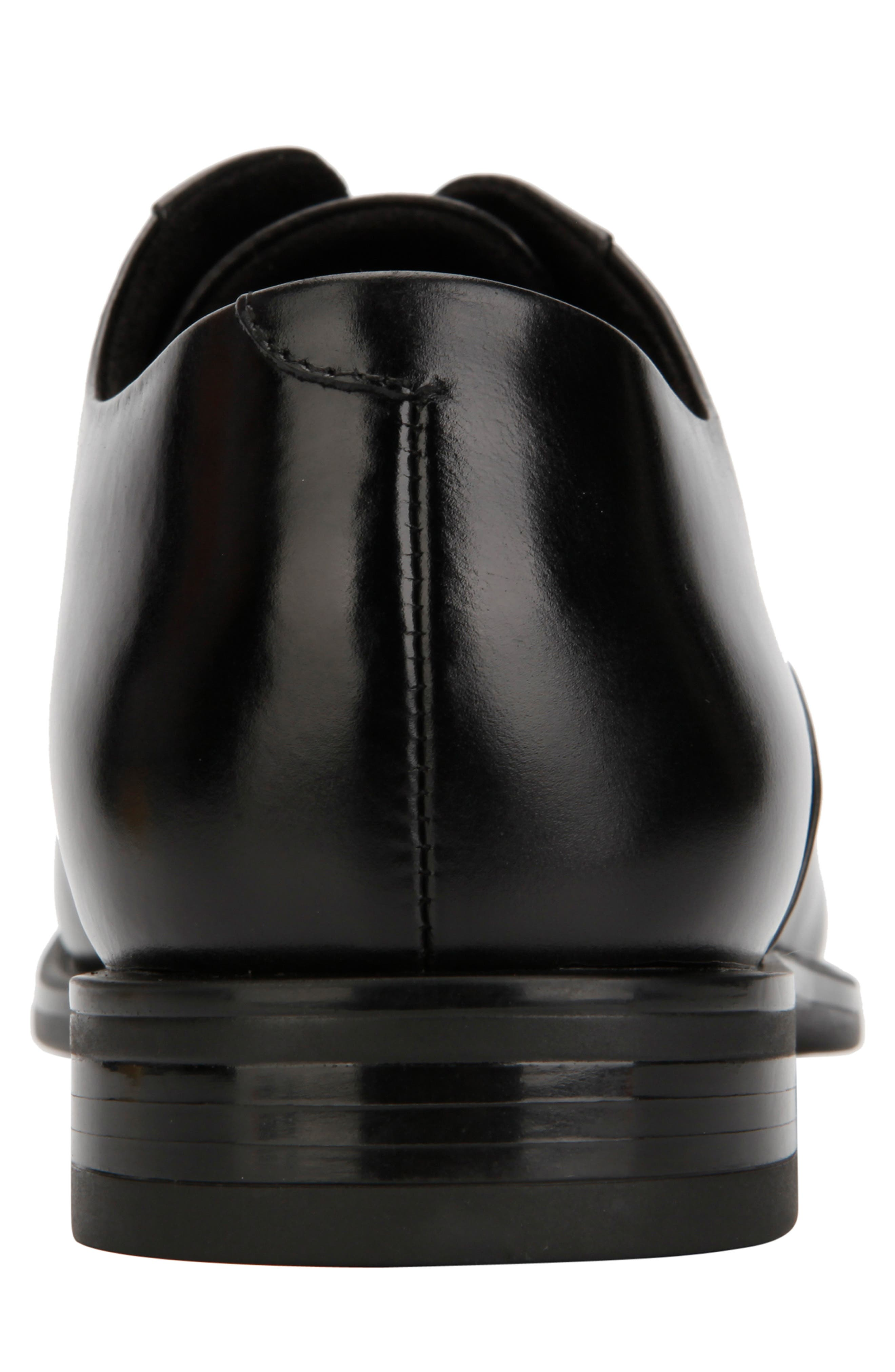 KENNETH COLE NEW YORK, Futurepod Cap Toe Oxford, Alternate thumbnail 5, color, BLACK LEATHER