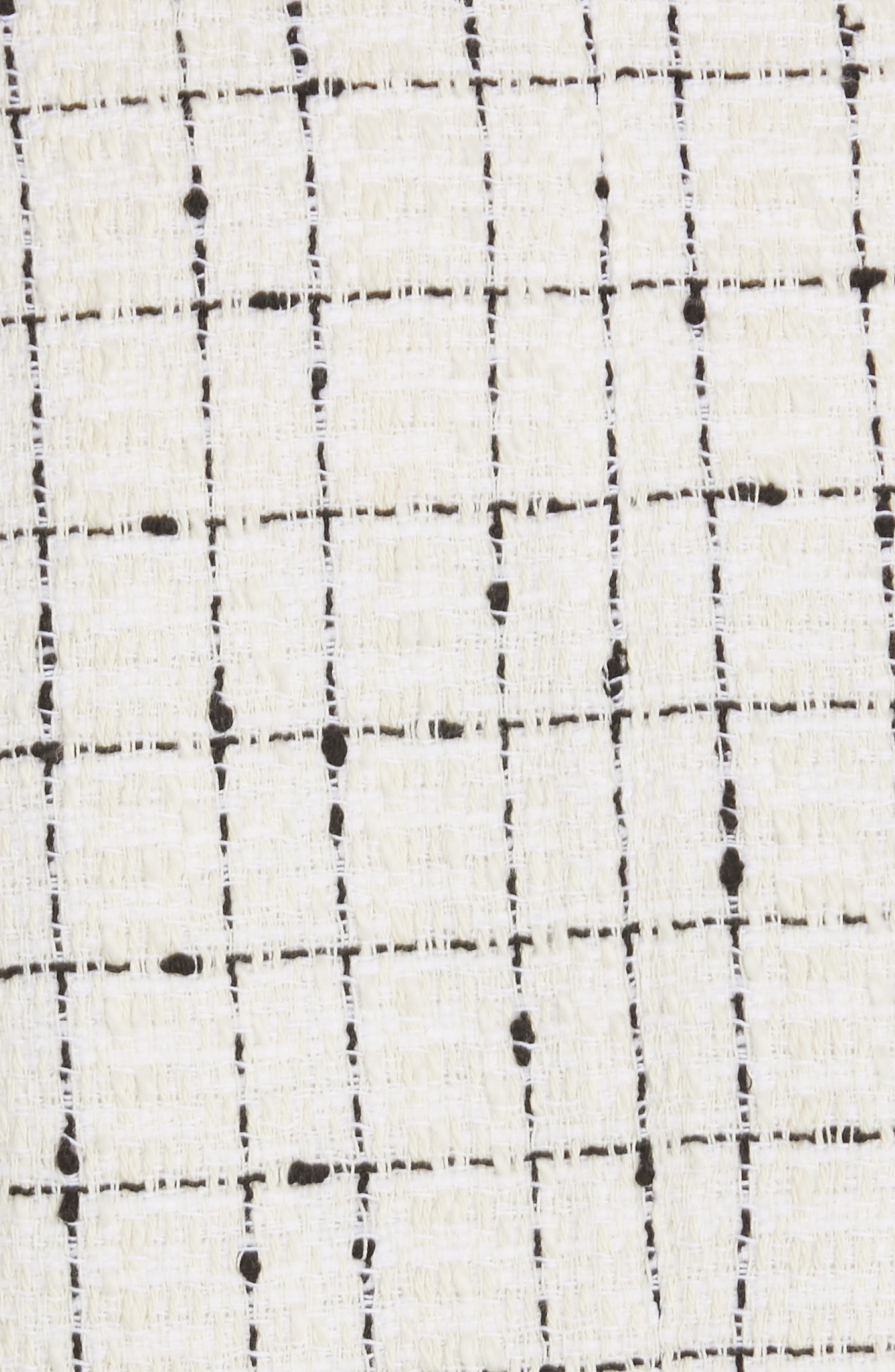 REBECCA TAYLOR, Scallop Hem Tweed Skirt, Alternate thumbnail 5, color, CREAM COMBO