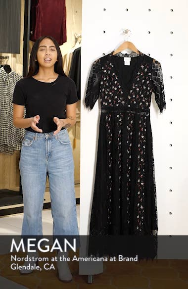 Josefine Lace & Clip Dot Tea Length Dress, sales video thumbnail
