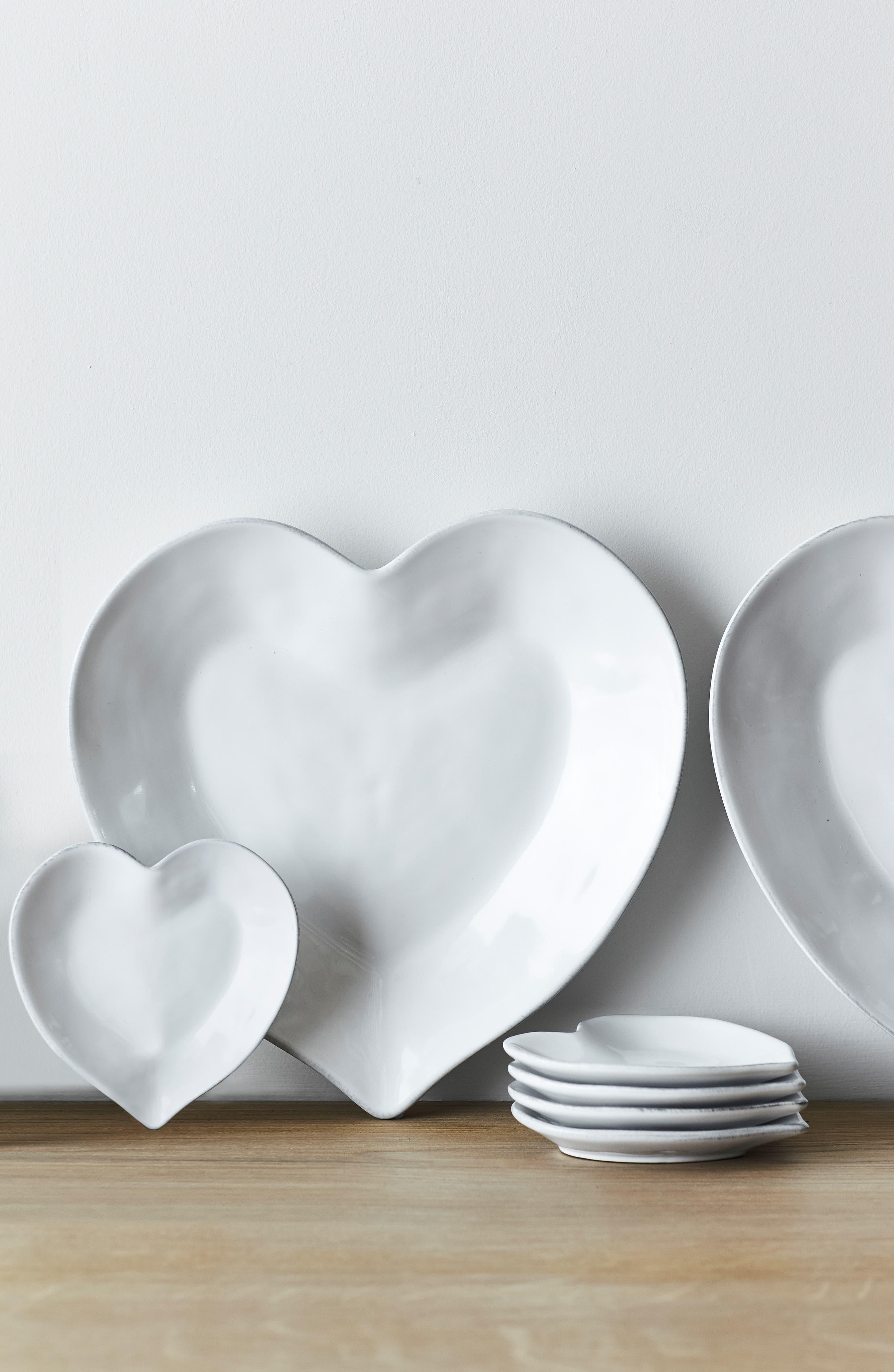 THE WHITE COMPANY, Porto Heart Plate, Alternate thumbnail 3, color, 100