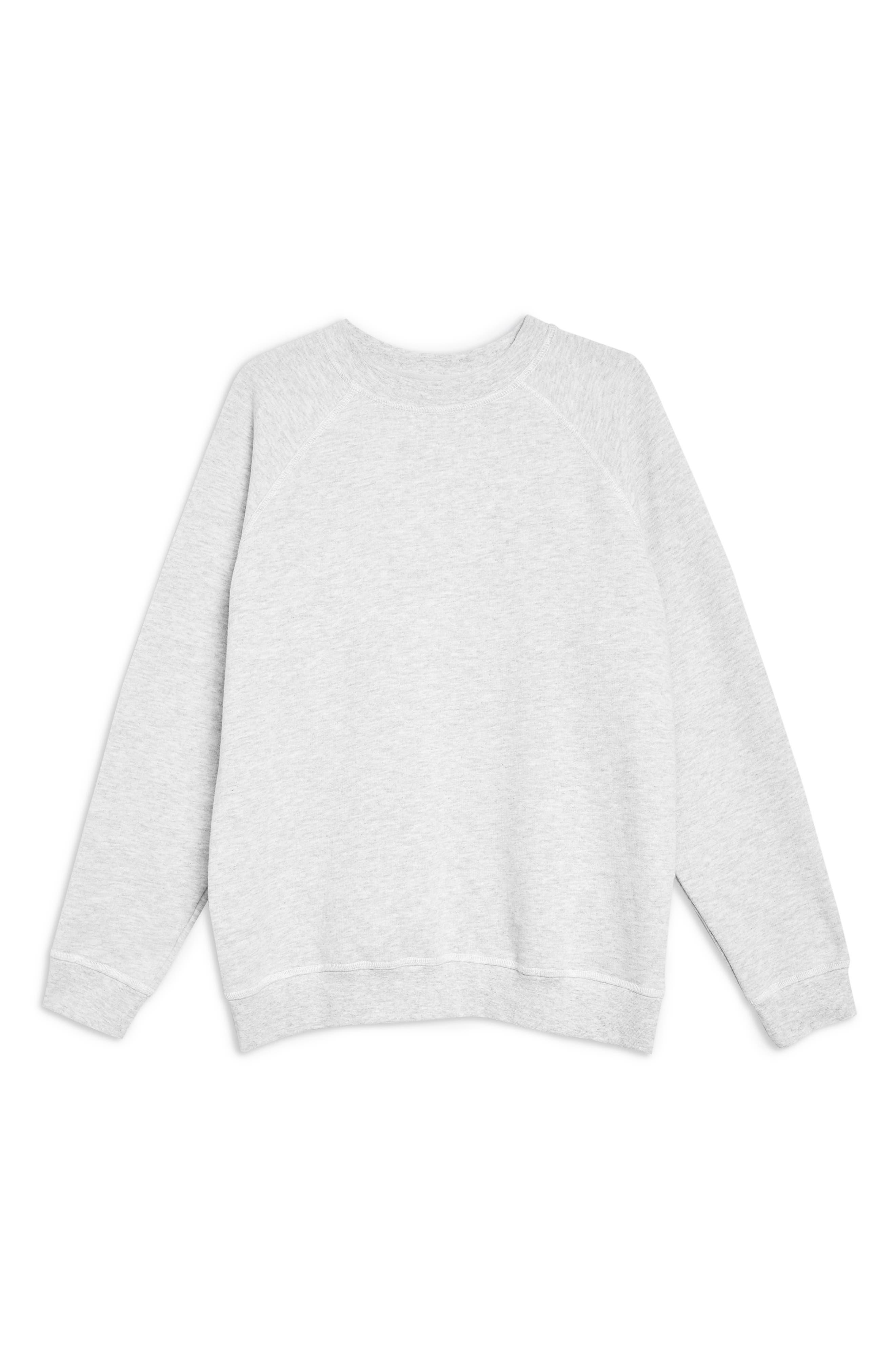 TOPSHOP, Crewneck Sweatshirt, Alternate thumbnail 4, color, 020