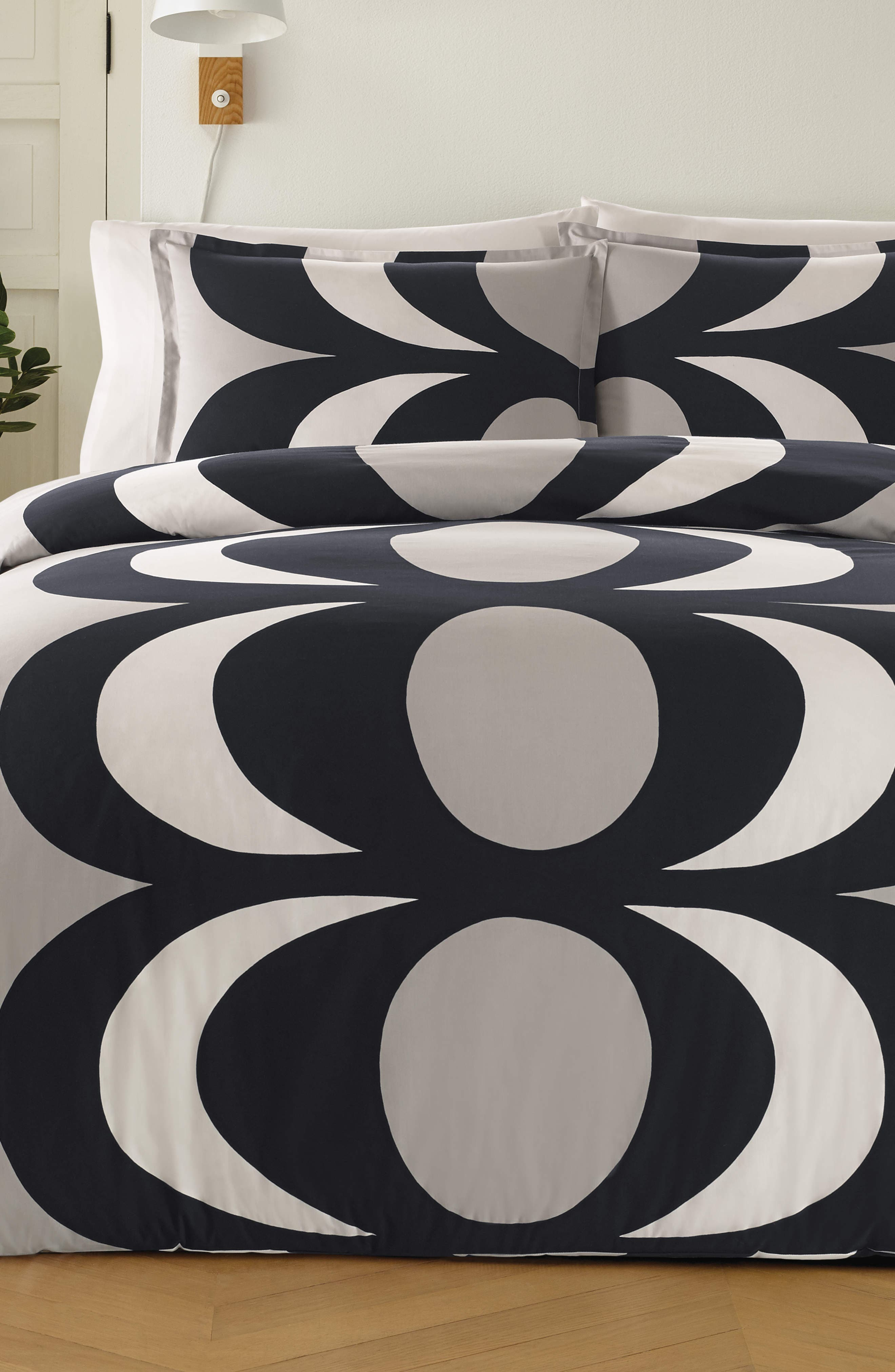 MARIMEKKO Kaivo Comforter & Sham Set, Main, color, GRAY