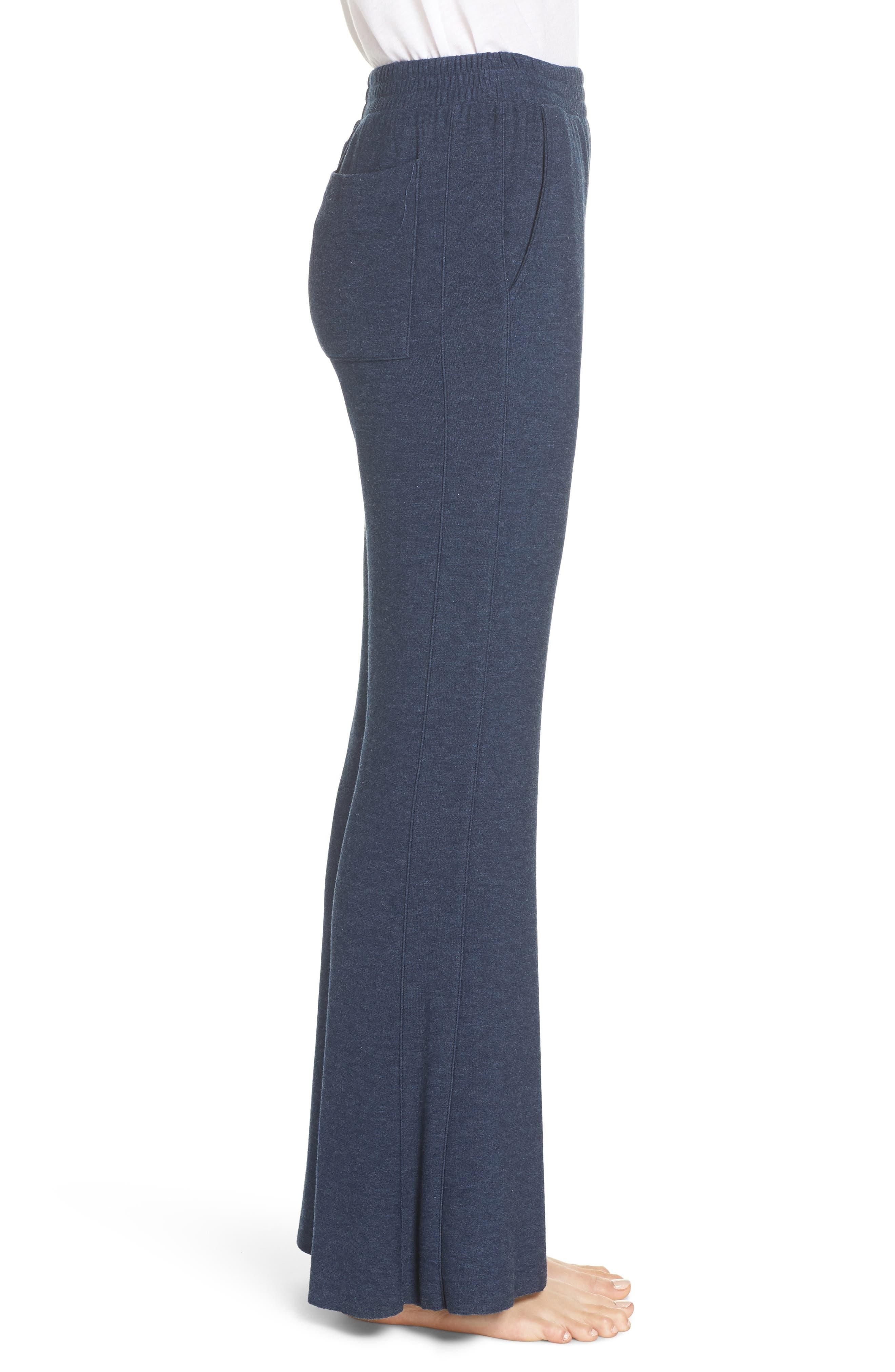 CHASER, Wide Leg Pajama Pants, Alternate thumbnail 4, color, 406